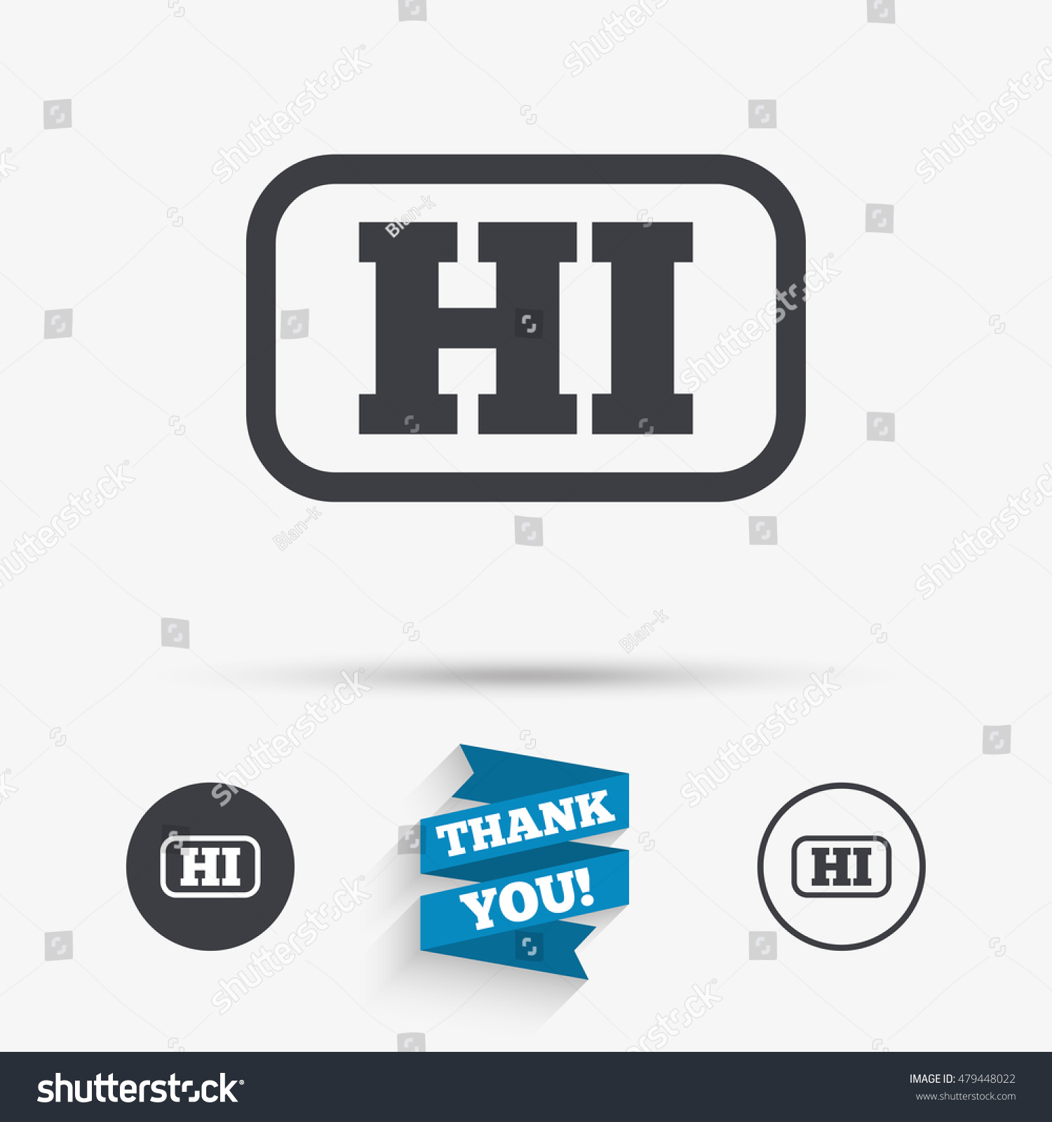 Hindi Language Sign Icon Hi India Stock Vector 479448022 Shutterstock