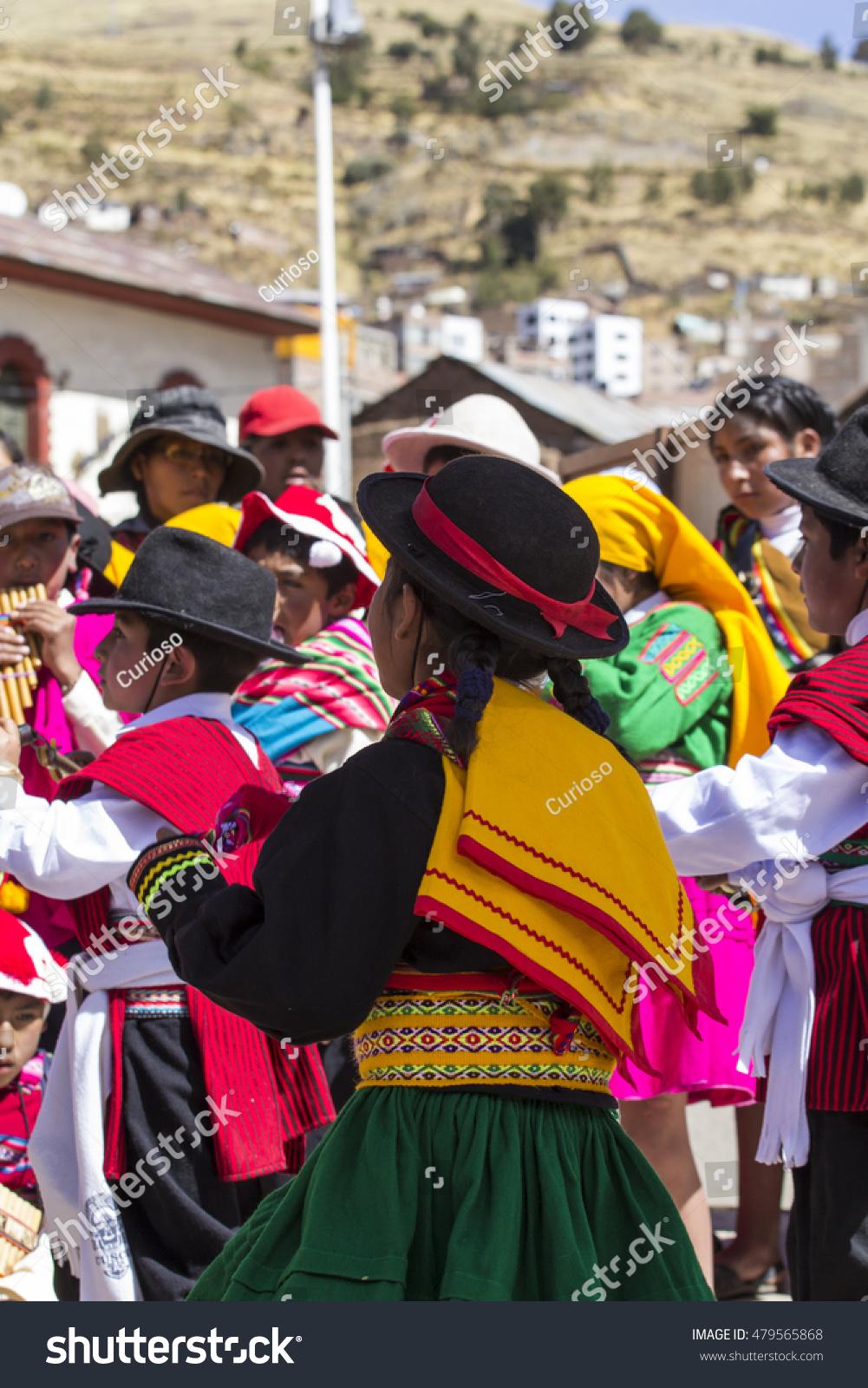 Puno Peru August 20 2016 Native Stock Photo 479565868 ...