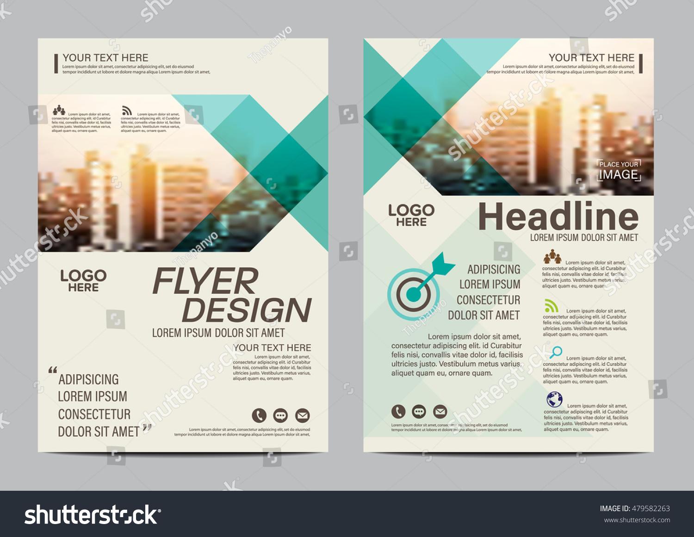 green brochure template - green brochure layout design template annual stock vector