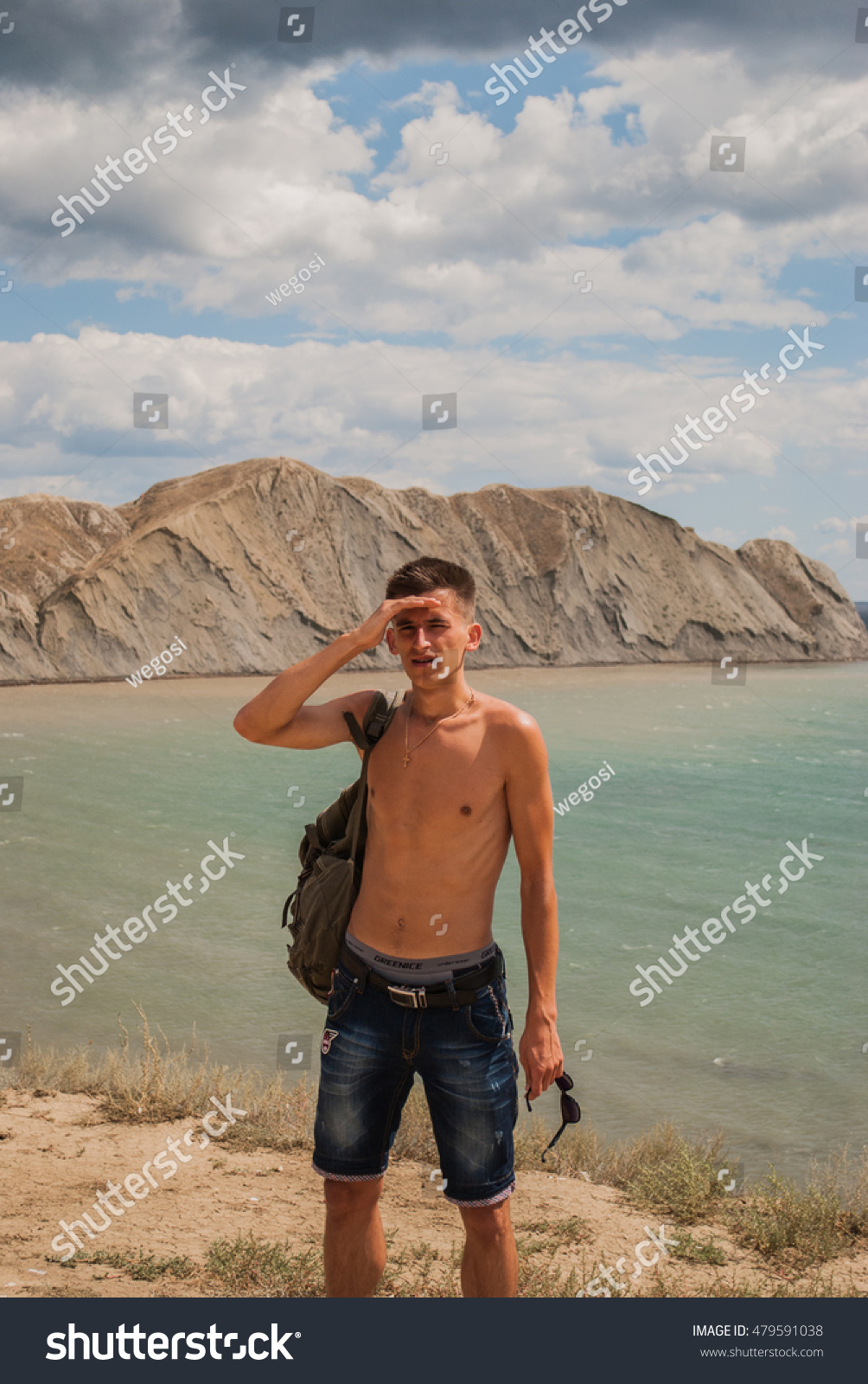 Happy Young Man Sunset Time Sea Stock Photo 479591038 - Shutterstock-7201