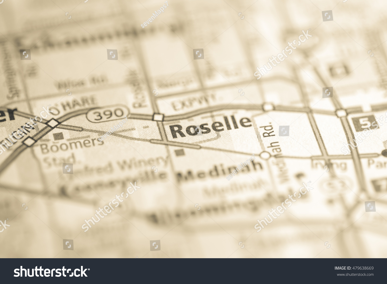 Roselle Illinois Map.Roselle Illinois Usa Ez Canvas