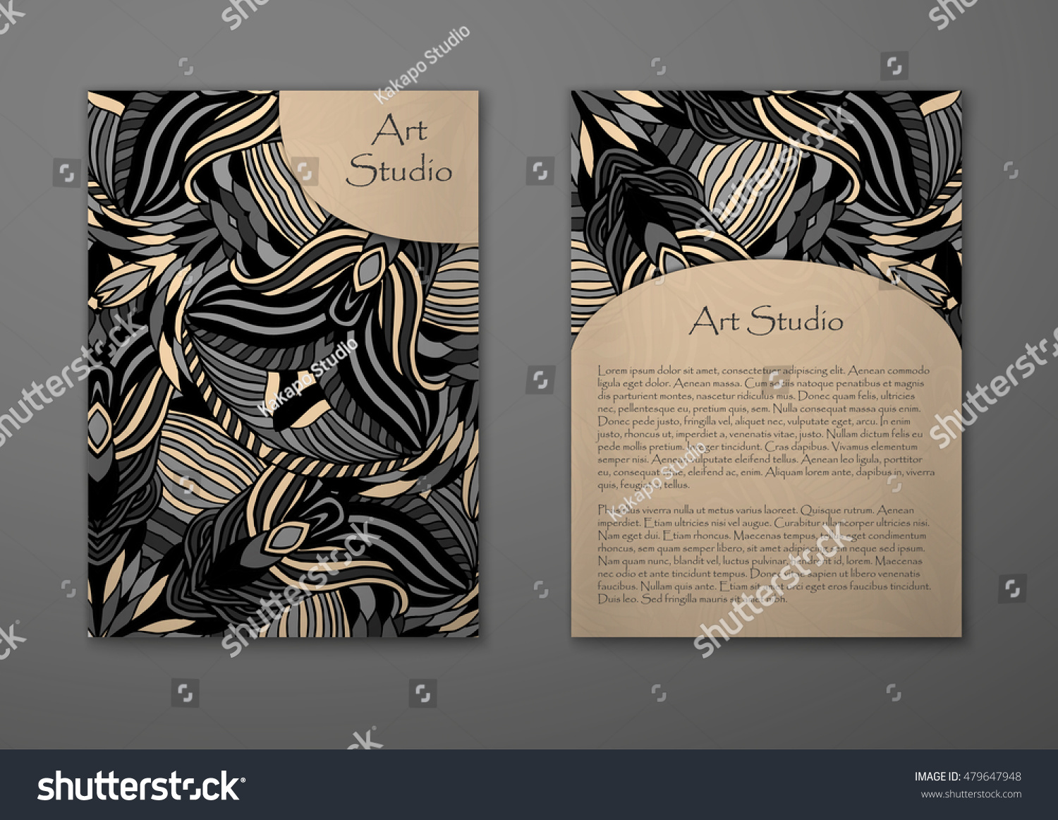 Vintage Card Tribal Abstract Pattern Ornaments Stock Vector HD ...