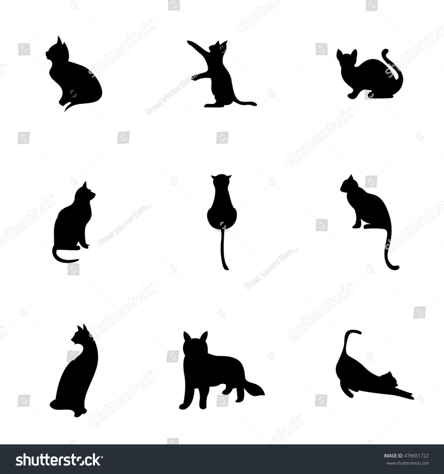 cat vector simple cat illustration editable stock vector 479651722