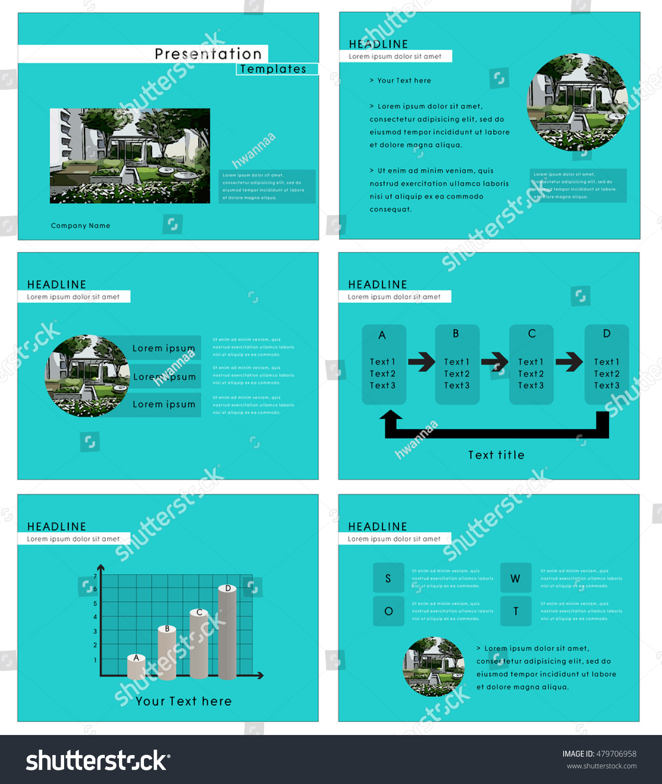 presentation template real estate theme clipping stock vector