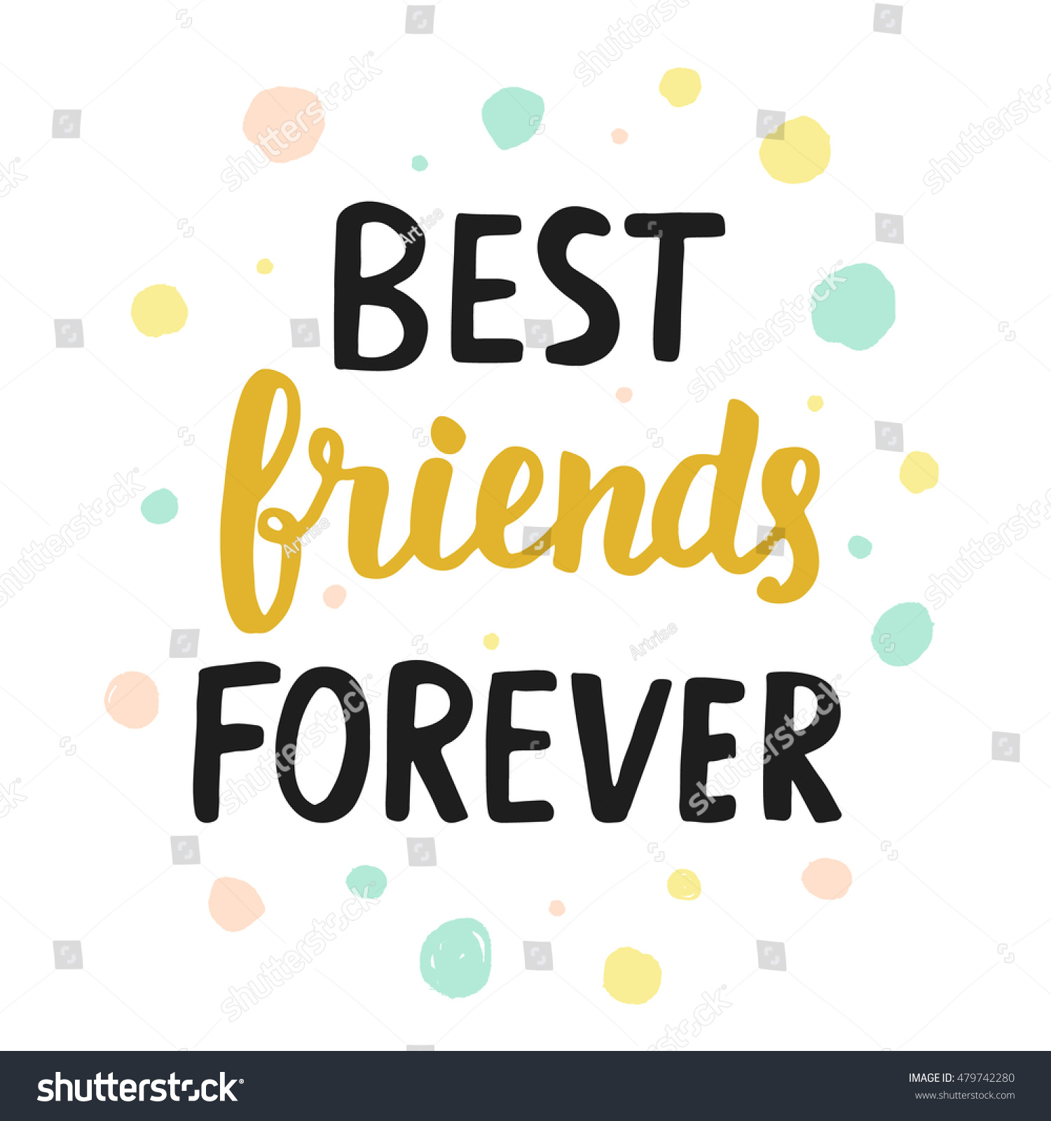 Best Friends Forever Quote Modern Hand Stock Vector Royalty Free