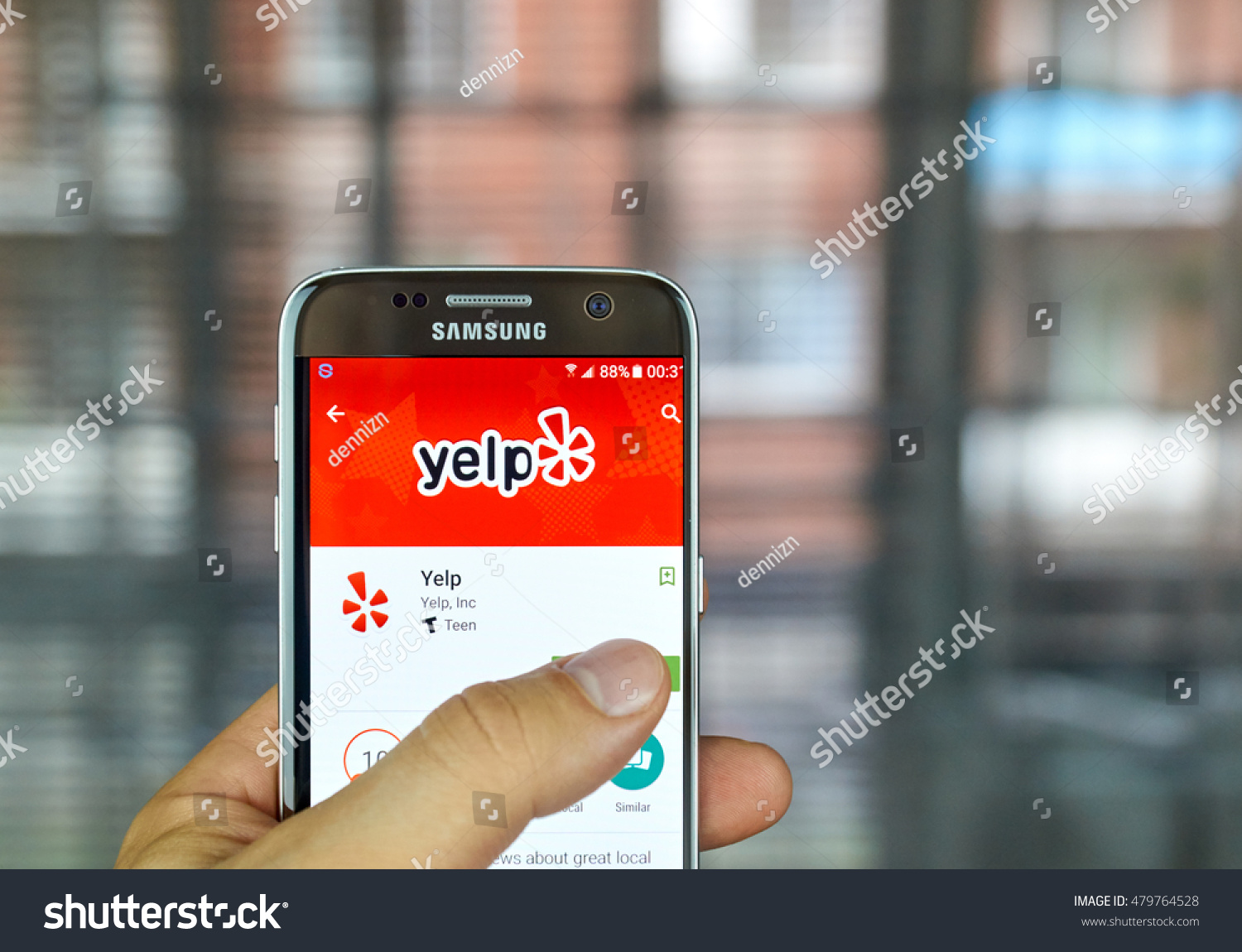 MONTREAL CANADA August 8 2016 Yelp Stock Photo (Edit Now