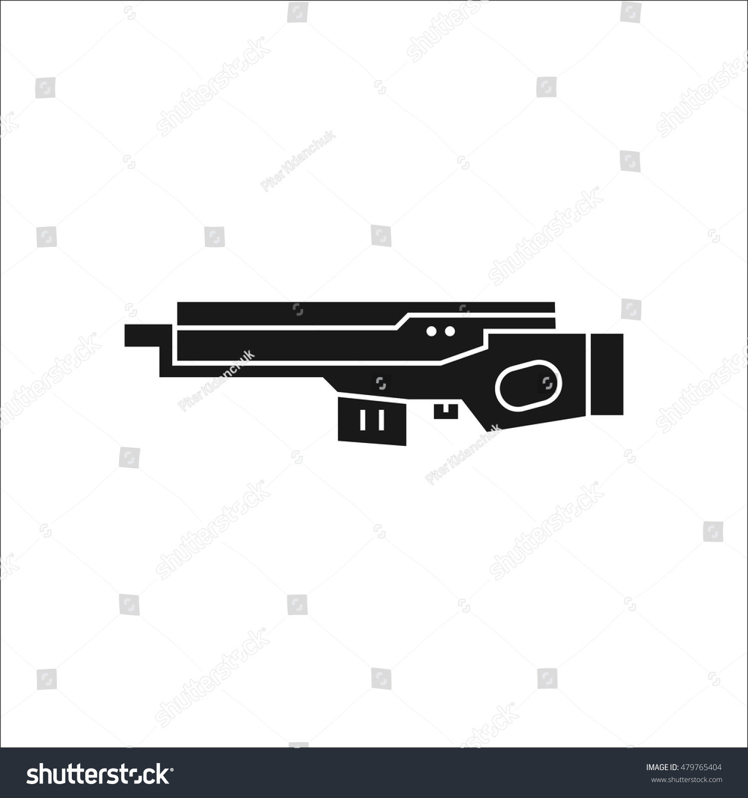 Futuristic large laser gun rifle symbol stock vector 479765404 futuristic large laser gun rifle symbol sign silhouette icon on background biocorpaavc Images