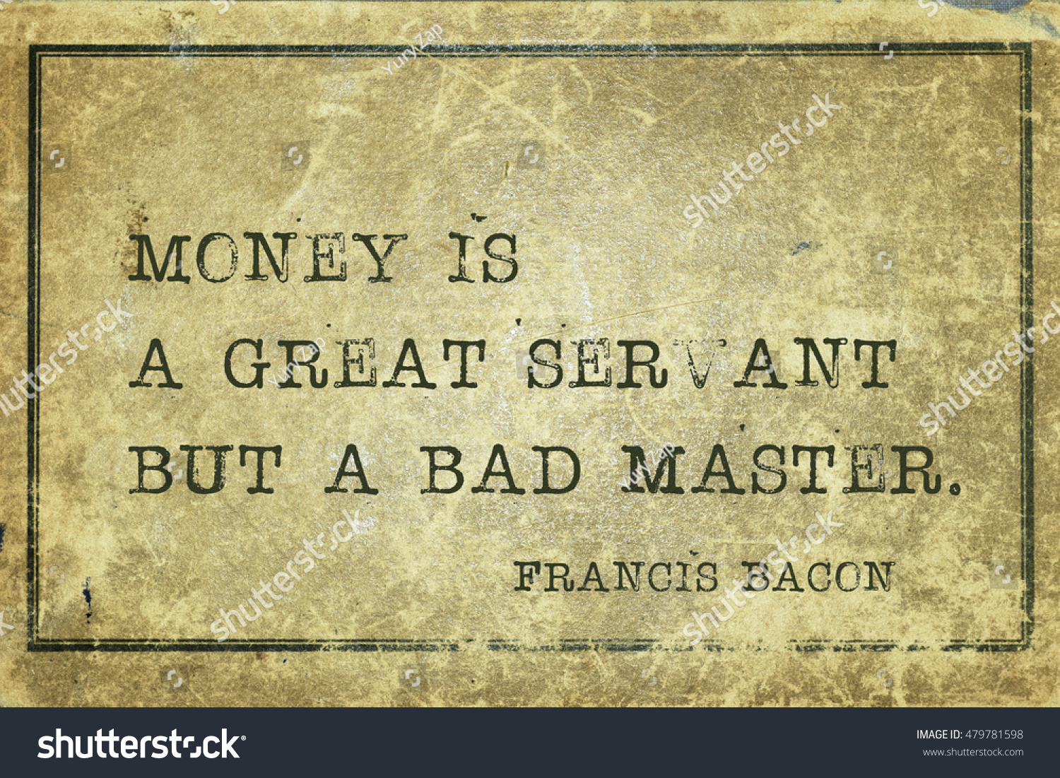 science is a good servant but a bad master essay No doubt, money is an essential, almost indispensable article in the present day world it is the' money' through which we can purchase all the necessary comforts and amenities of life.