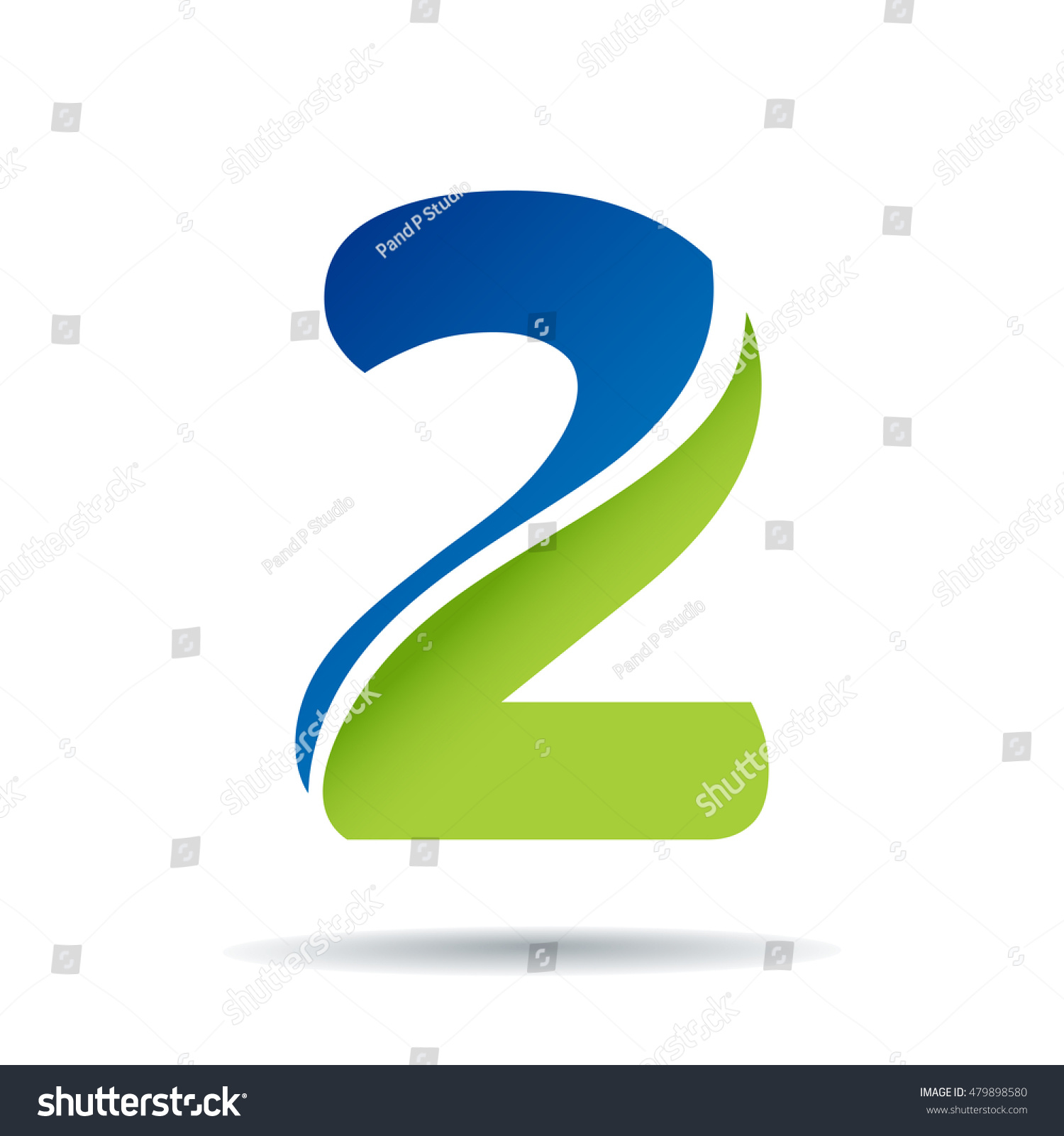 Number 2 logo icon design template stock vector 479898580 number 2 logo icon design template elements pronofoot35fo Gallery