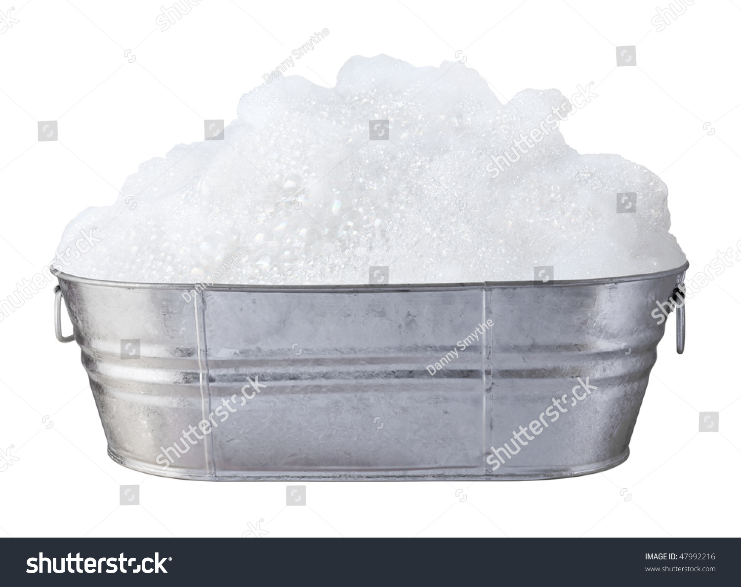 Soap Suds Bubbles Tub Isolated On Stock Photo 47992216
