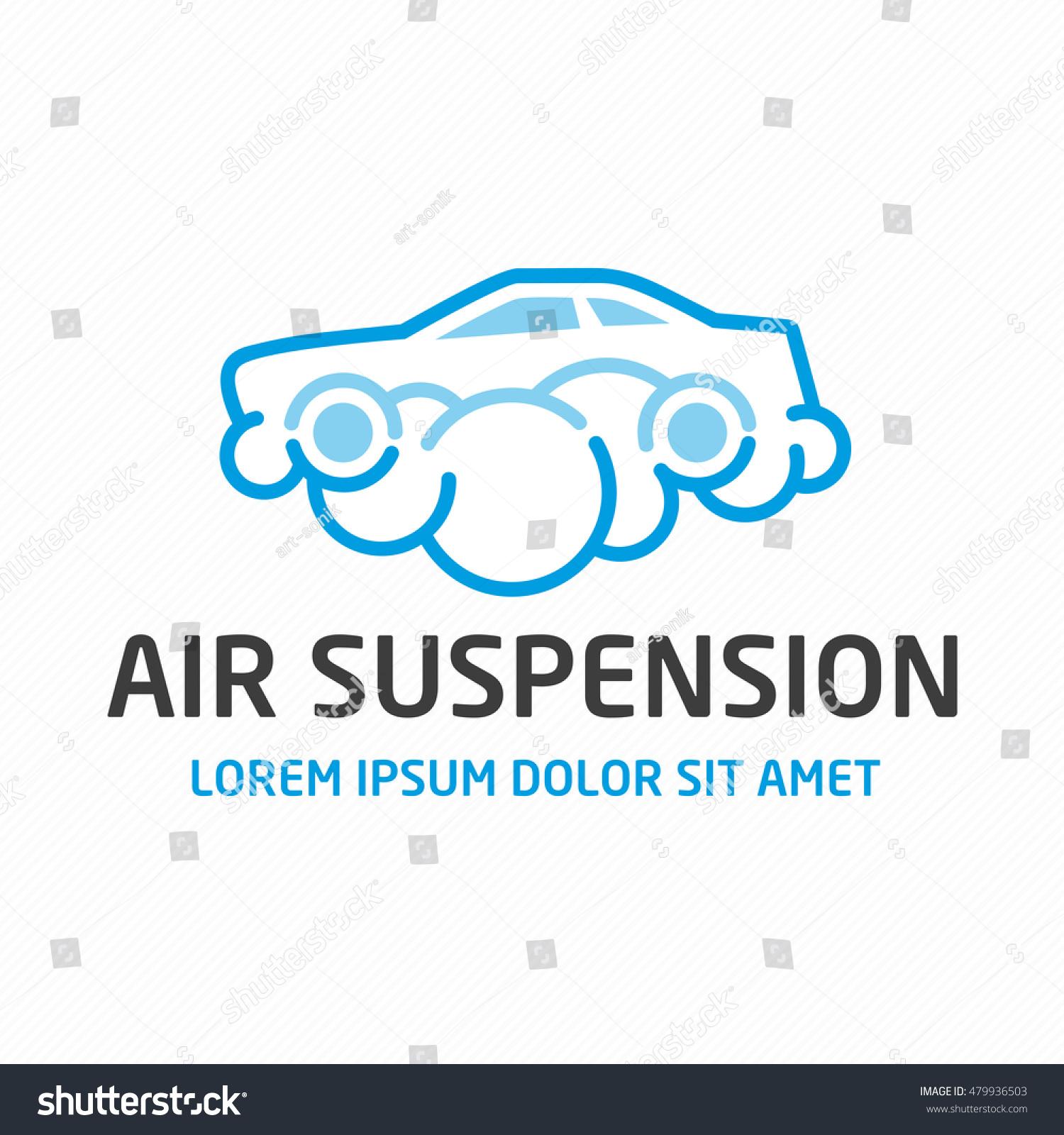 Air Suspension Logo Car Maintenance Repair Stock Vector 479936503