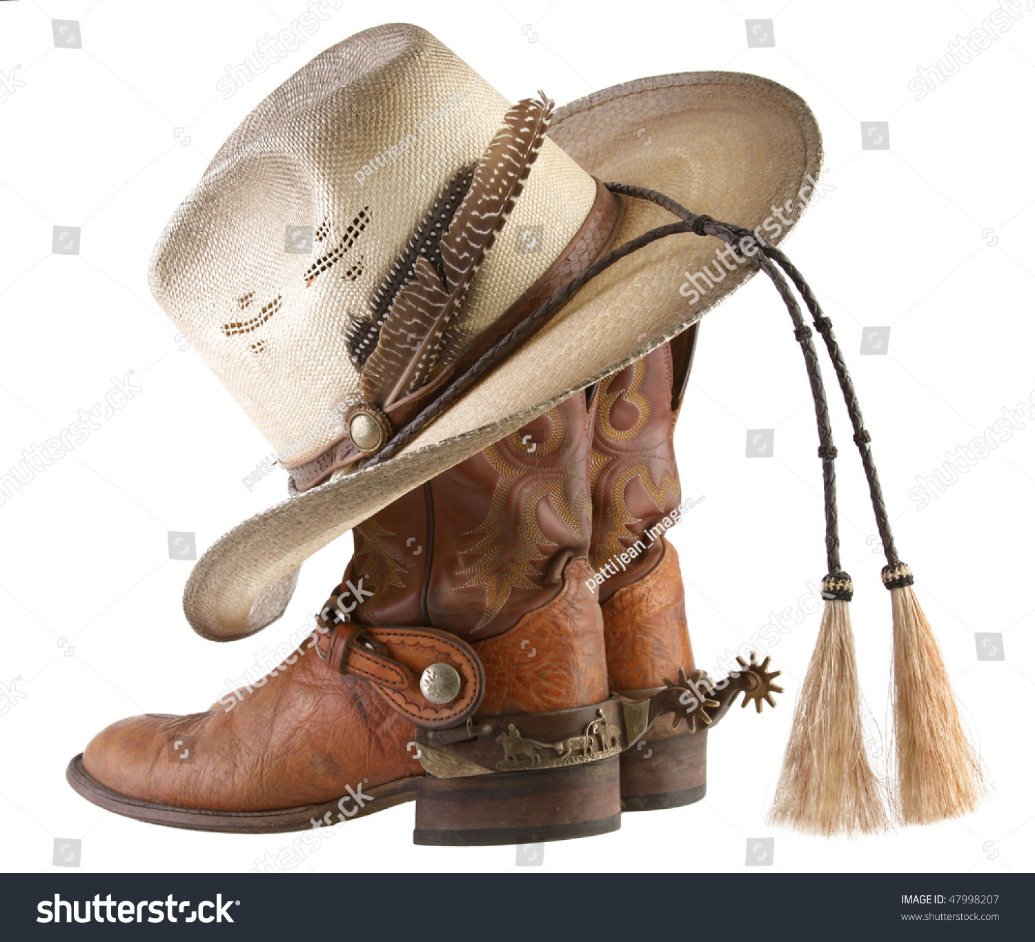 Cowboy Boots Spurs Hat Stock Photo 47998207 - Shutterstock