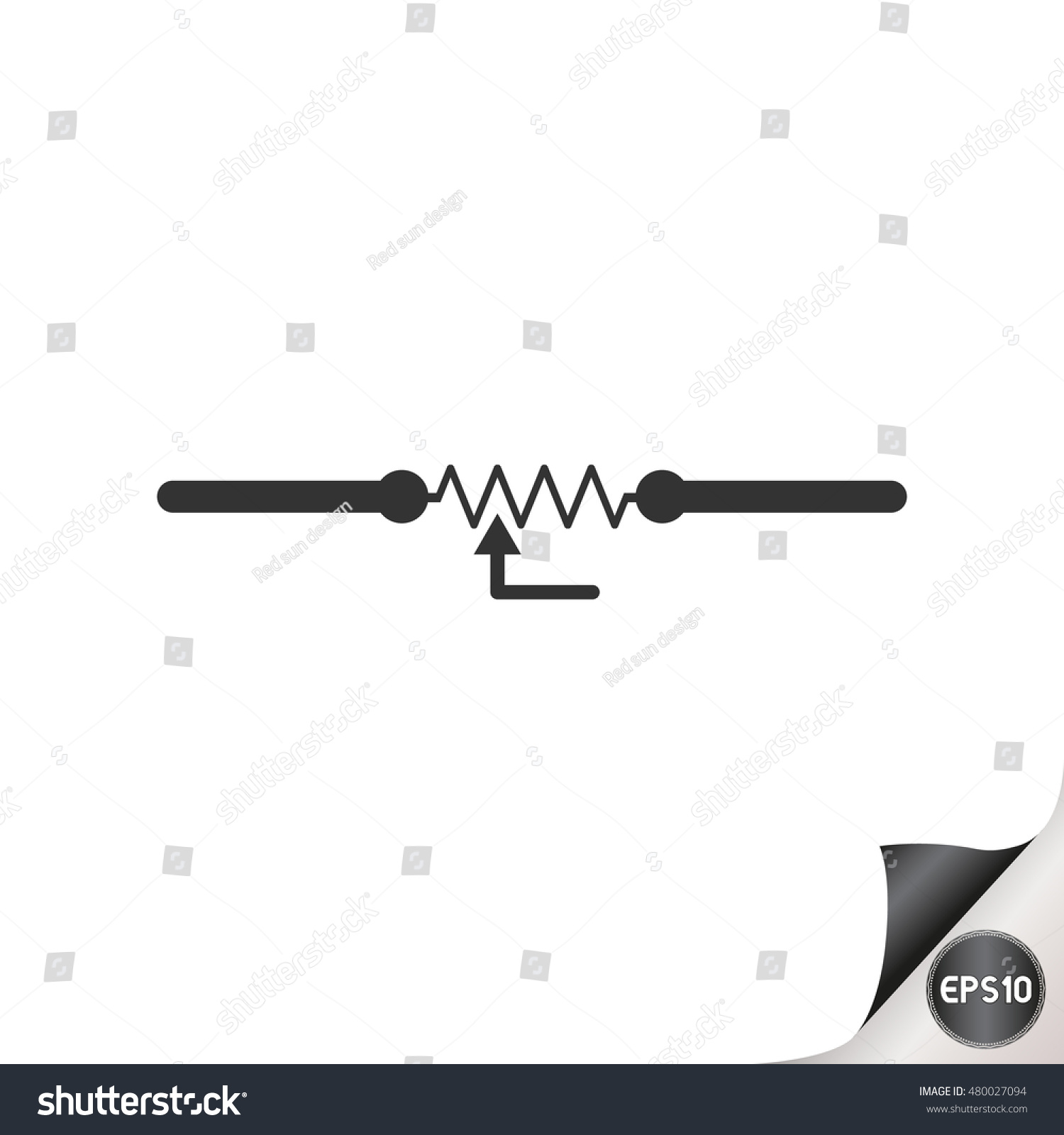 Electronic Circuit Symbols Variable Resistor Stock Vector 480027094 ...
