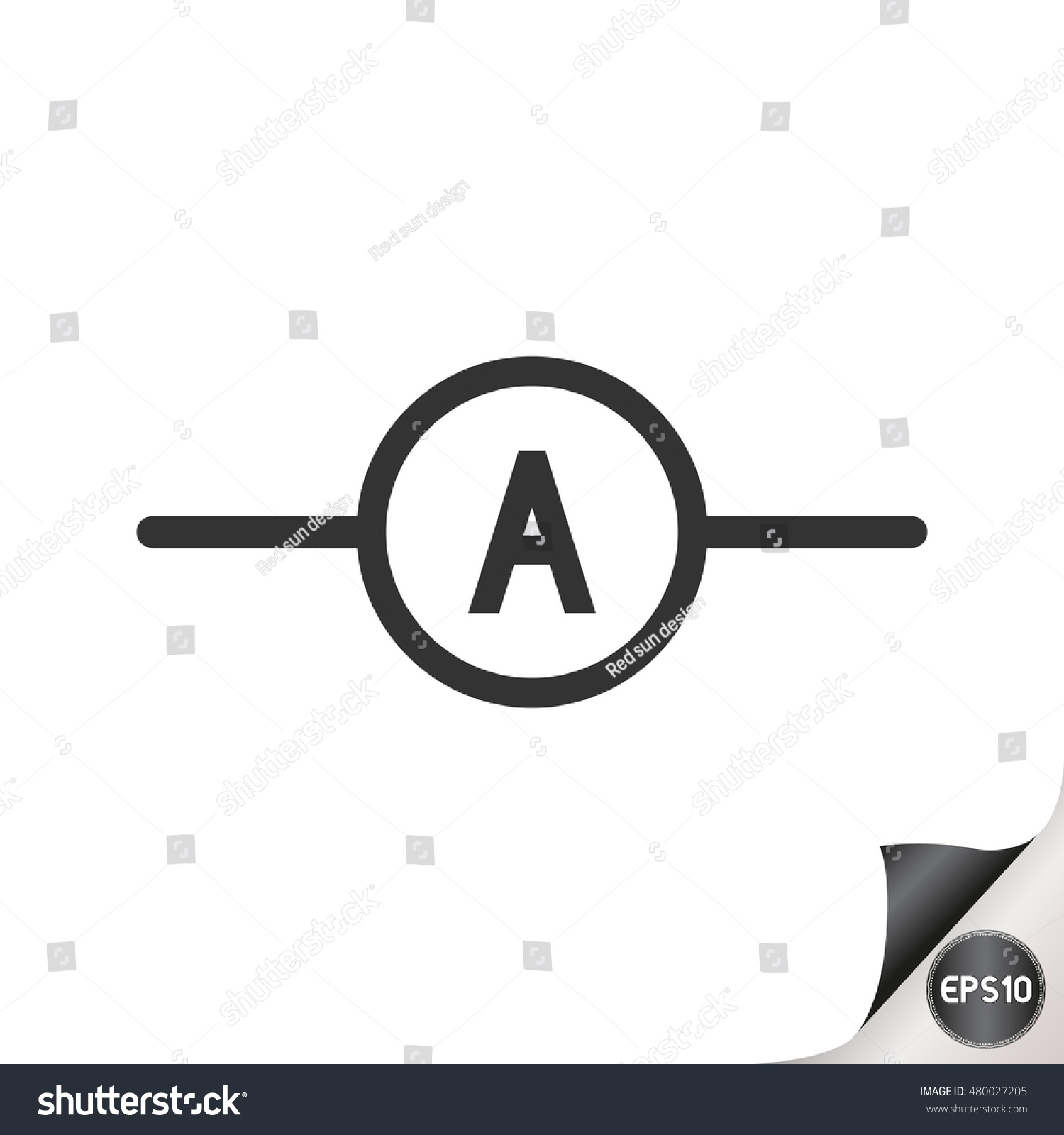 Amp Meter Diagram Schematic Symbols Trusted Schematics Electric Circuit Electronic Stock Vector Royalty Free Basic Electrical Diagrams