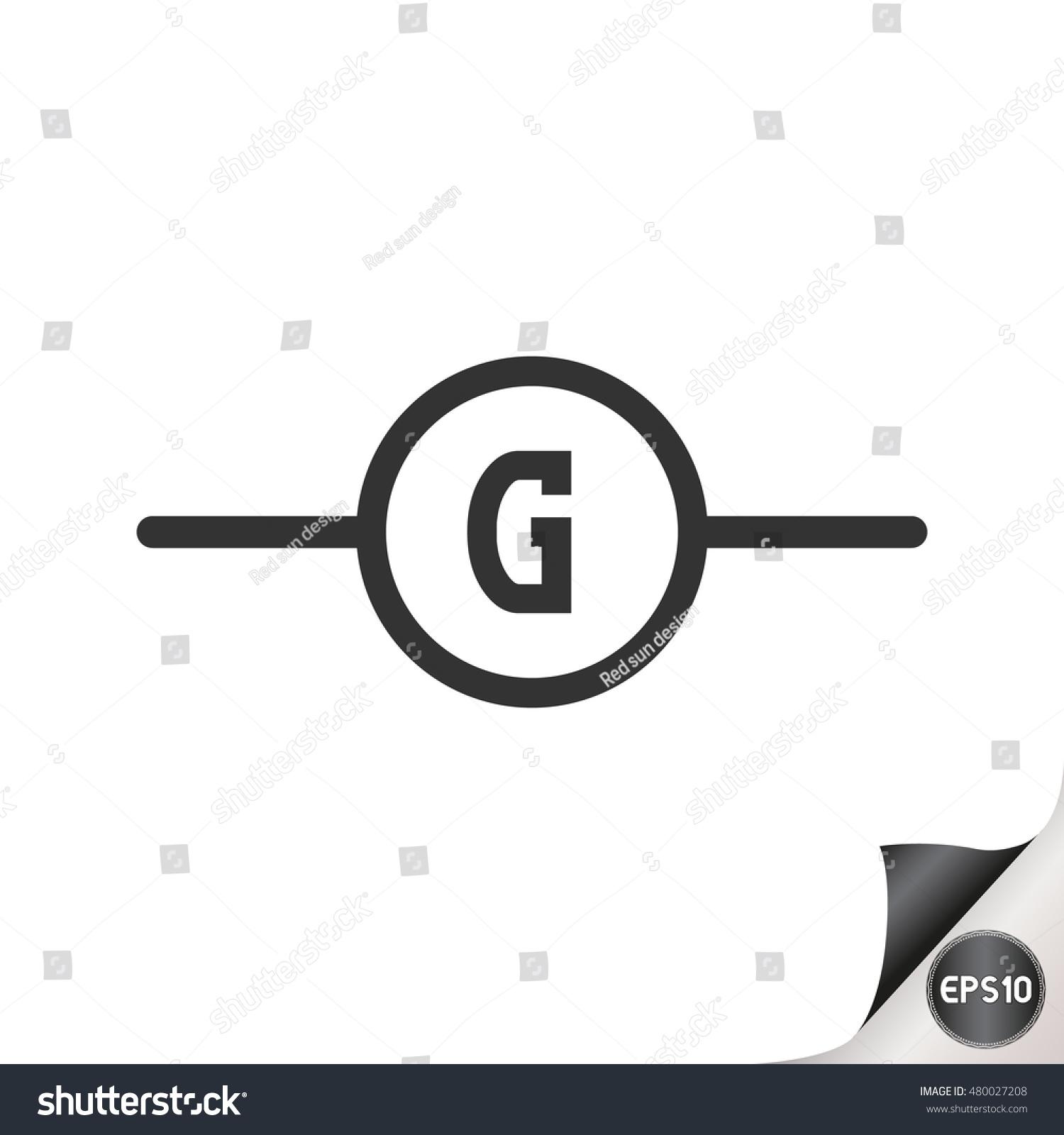 Electronic Circuit Symbols Generator Stock Vector Royalty Free