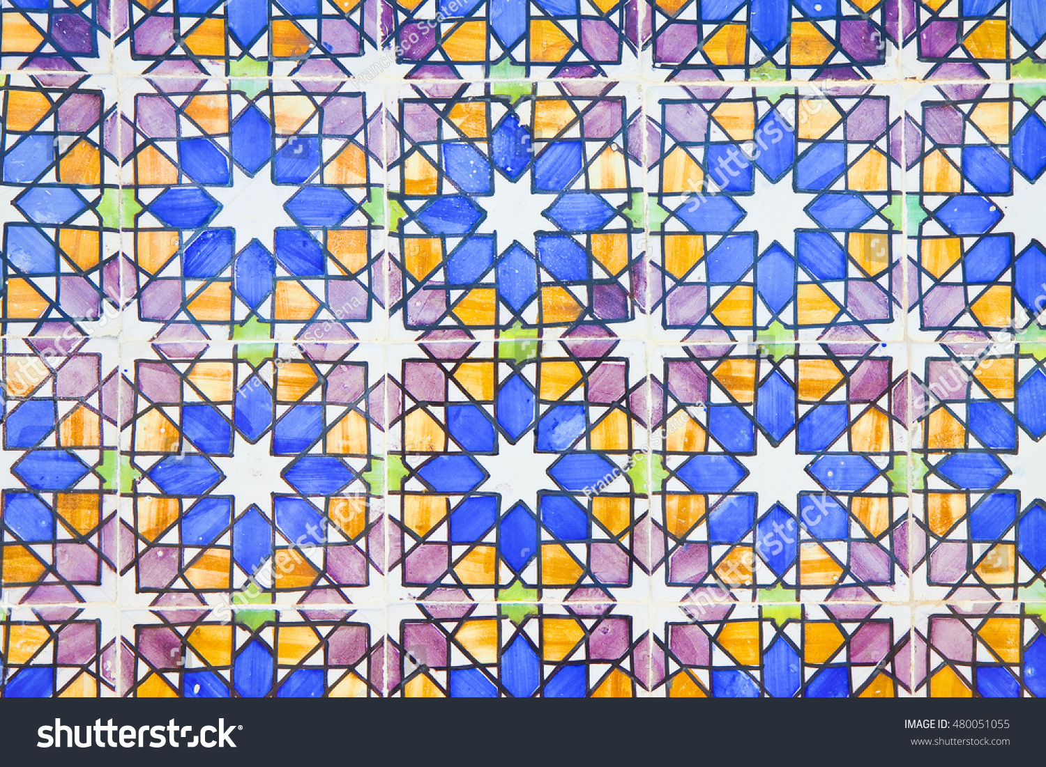 Typical Old Portuguese Decorations Colored Ceramic Stock Photo ...