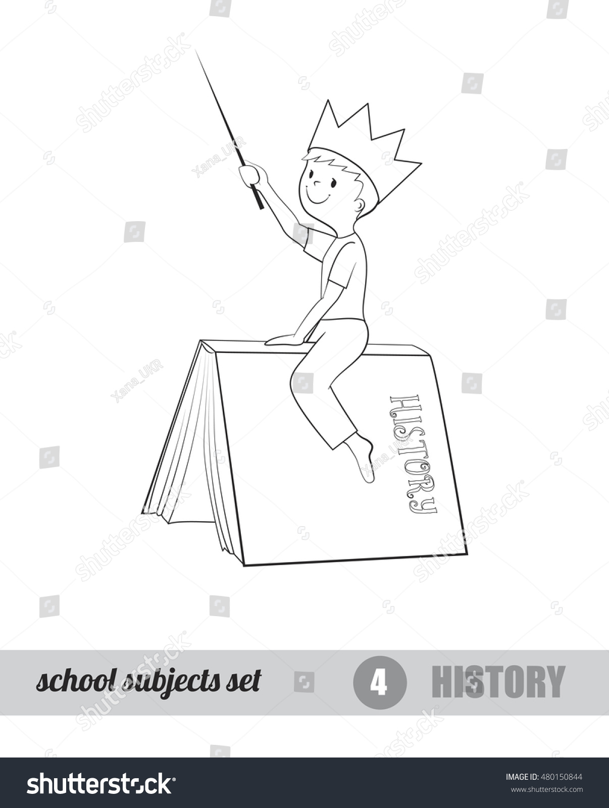 One School Subject Set History Vector Stock Vector (Royalty Free ...