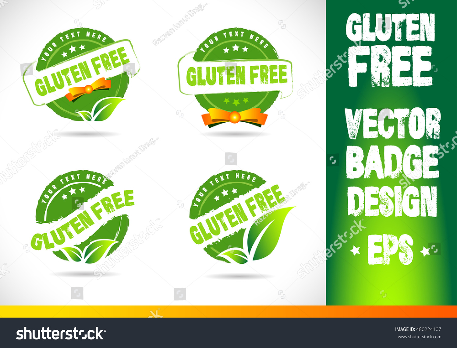 gluten free badge vector logobadge label stock vector royalty free