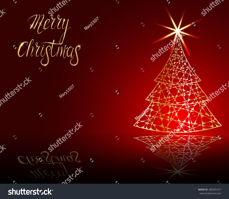 Stylized Christmas Tree On Decorative Background Stock Vector ...