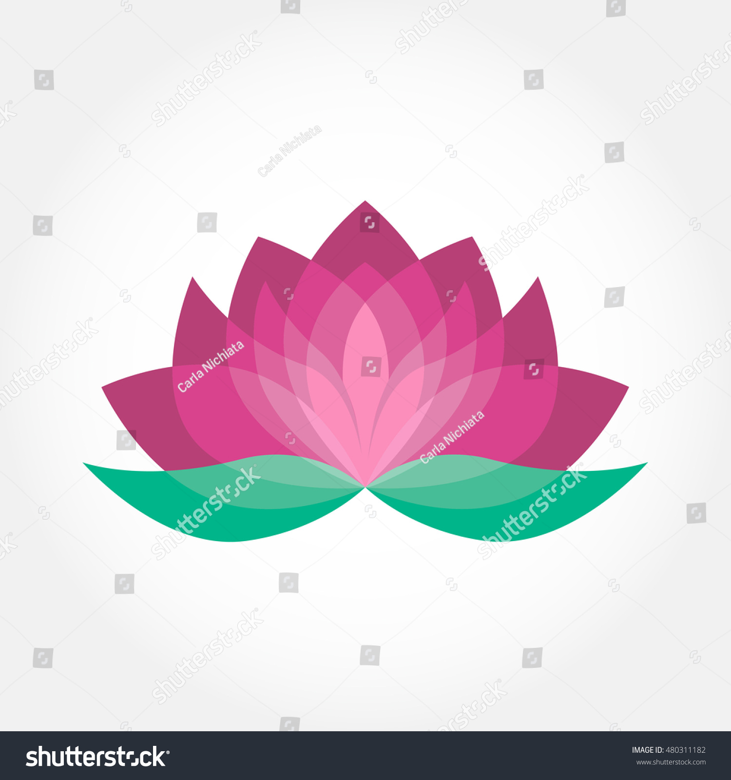 Lotus flower icon vector pink green stock vector 480311182 lotus flower icon vector pink and green beauty design yoga holistic therapy concept dhlflorist Images