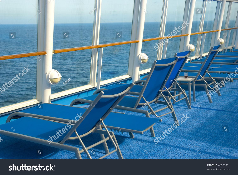 Fabulous Blue Lounge Chairs On Deck Cruise Stock Photo Edit Now Creativecarmelina Interior Chair Design Creativecarmelinacom