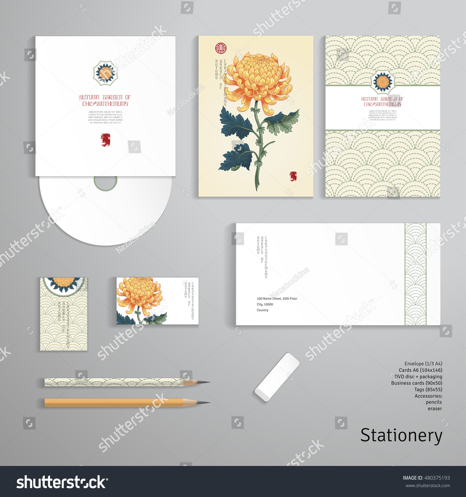 vector identity templates envelope business card stock vector