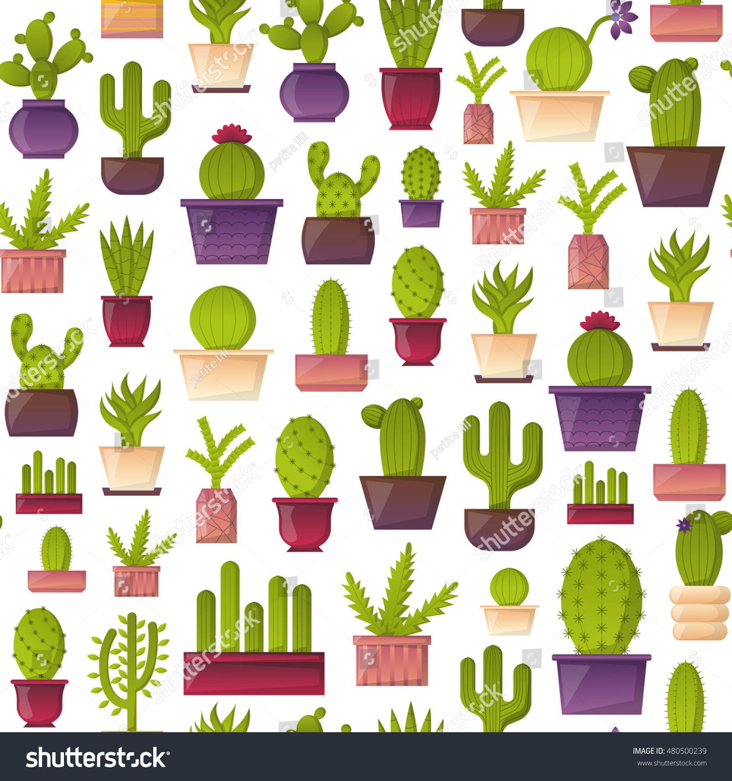 vector illustration cartoon cactus background vector stock vector vector illustration with cartoon cactus background vector house plant in flowerpot home interior background