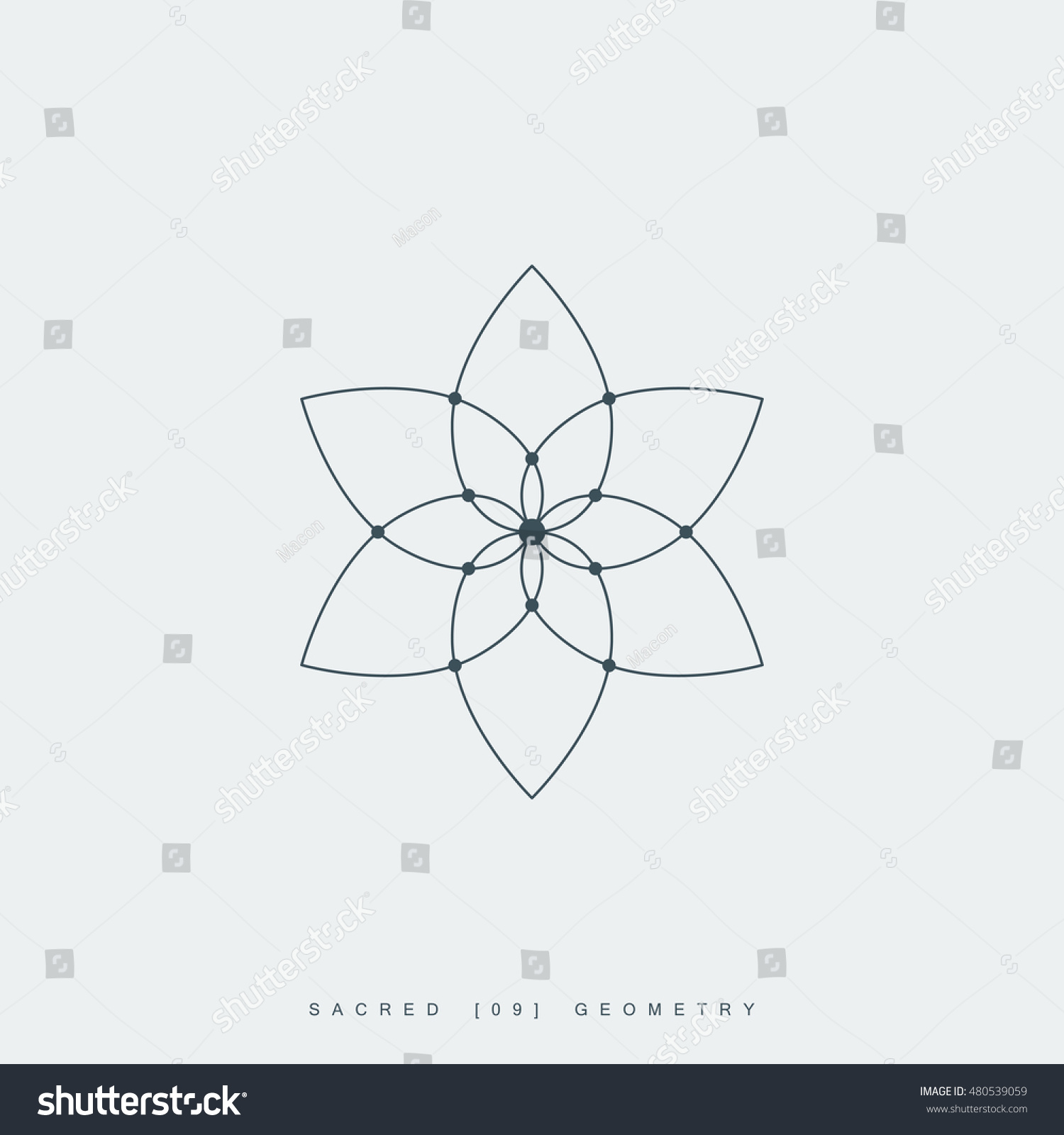 Flower life sacred geometry lotus flower stock vector 2018 flower of life sacred geometry lotus flower mandala ornament esoteric or spiritual izmirmasajfo Gallery