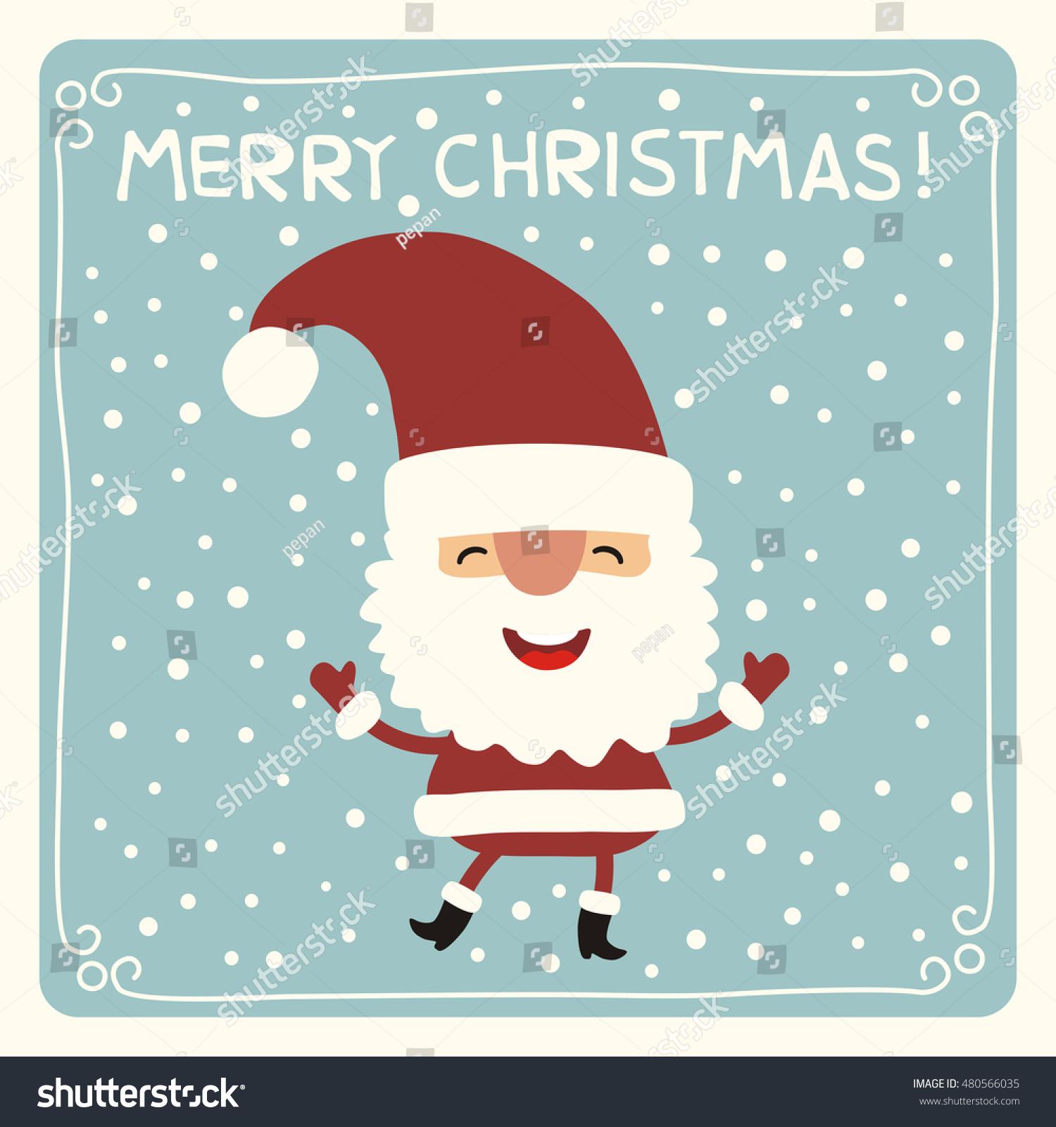 Merry christmas funny santa claus stock vector