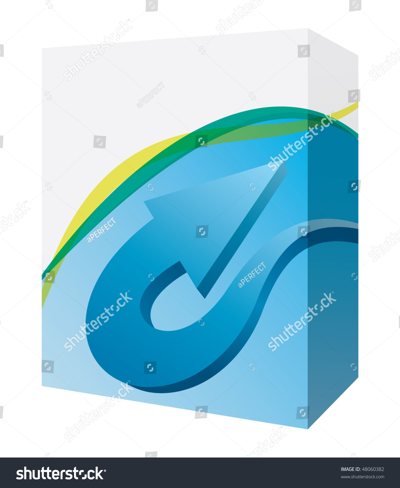 Software box with arrow stock vector illustration 48060382 Vector image software
