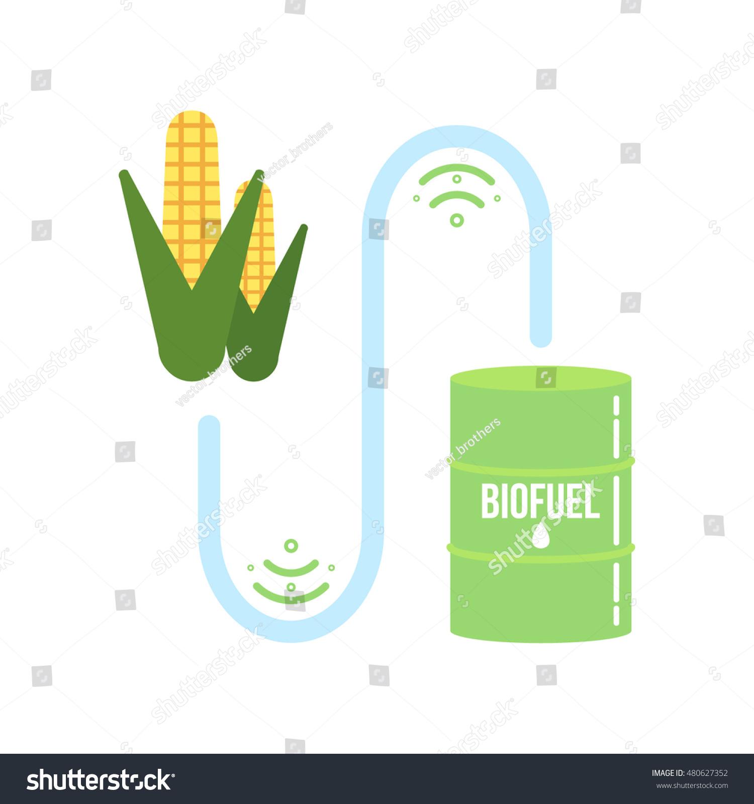 Corn ethanol biofuel vector icon alternative stock vector corn ethanol biofuel vector icon alternative environmental friendly fuel buycottarizona