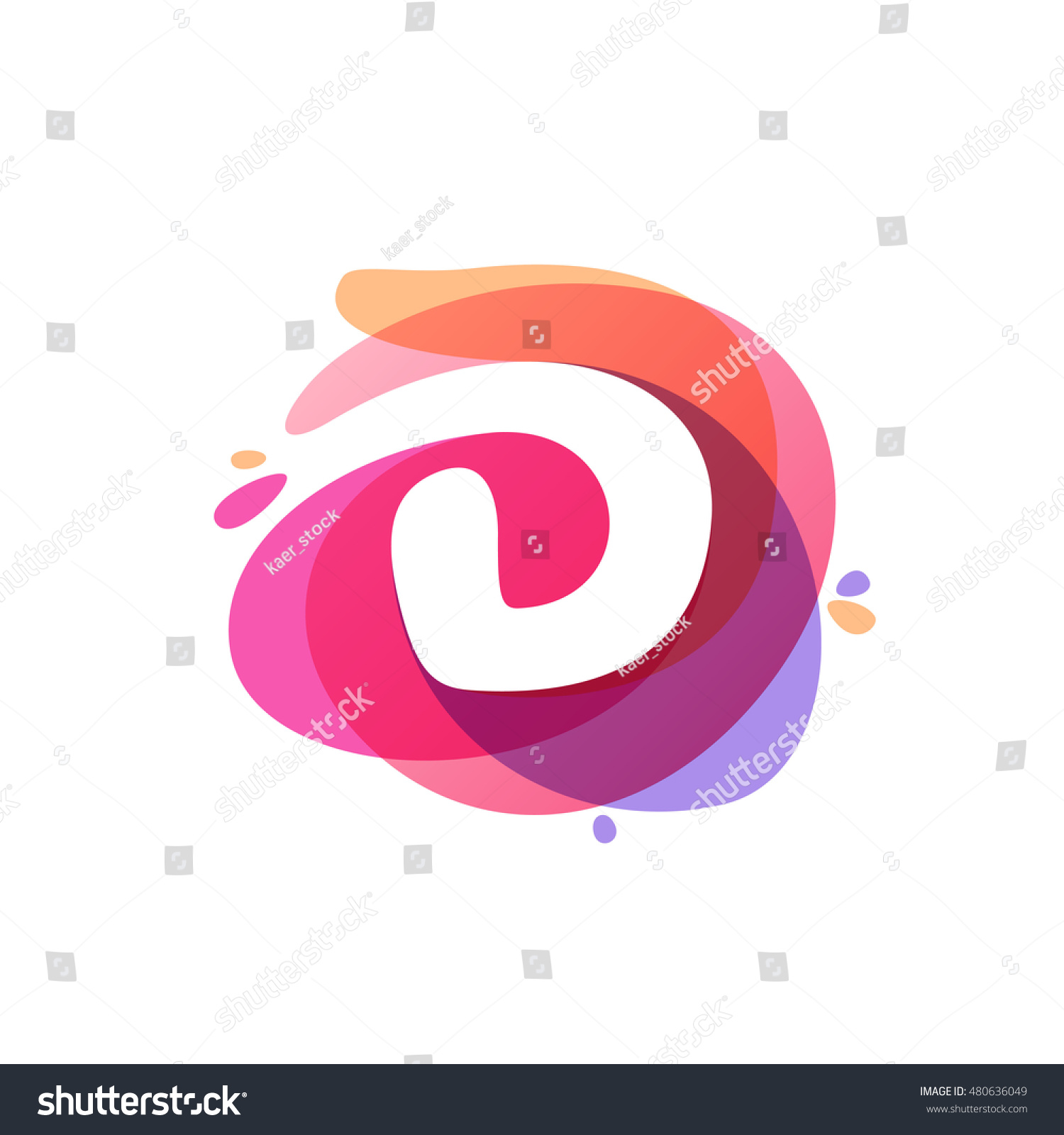 Letter D Logo Colorful Watercolor Splash Stock Vector (Royalty Free ...