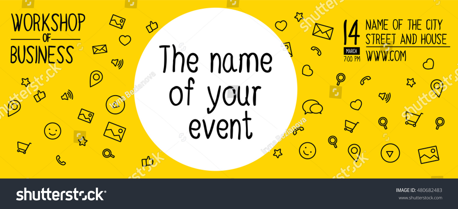 Banner Design For Event, Workshop. Banner Design Of Ideas. Template Banner  Of Layout