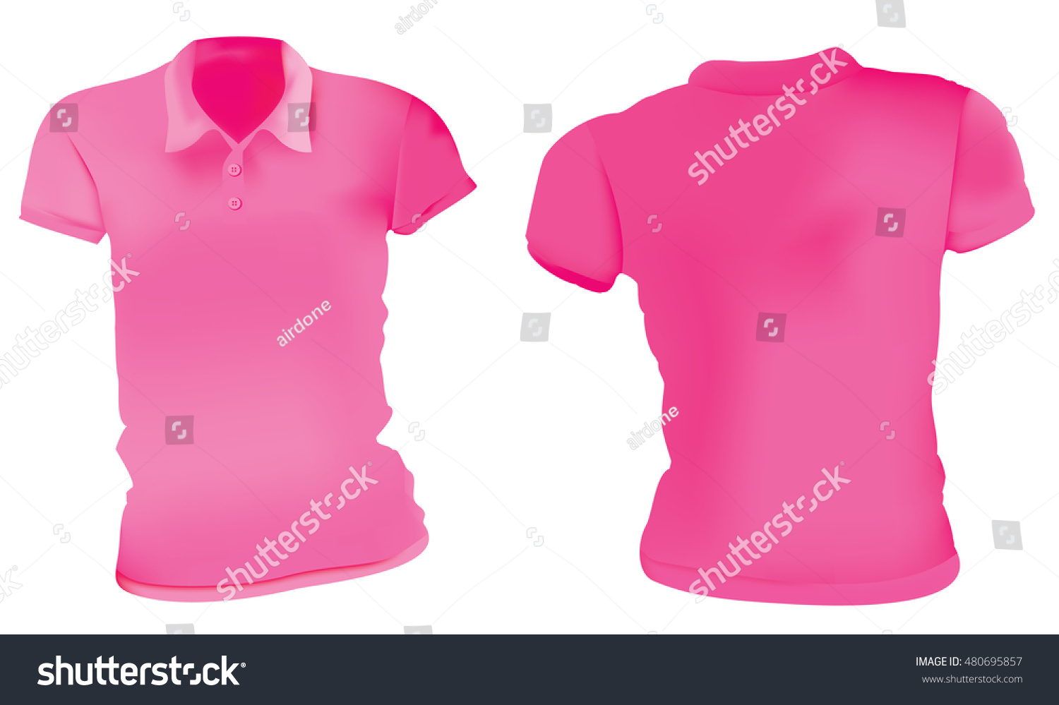 Blank Polo Shirt Template Front And Back