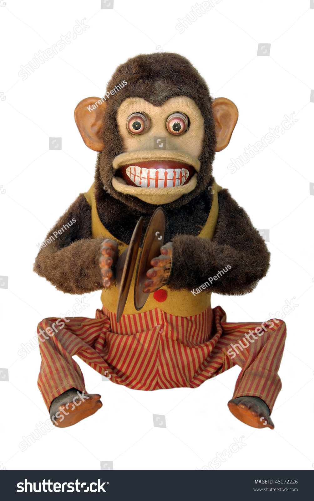 Vintage Mechanical Monkey Toy Cymbals Showing Stock Photo Edit Now