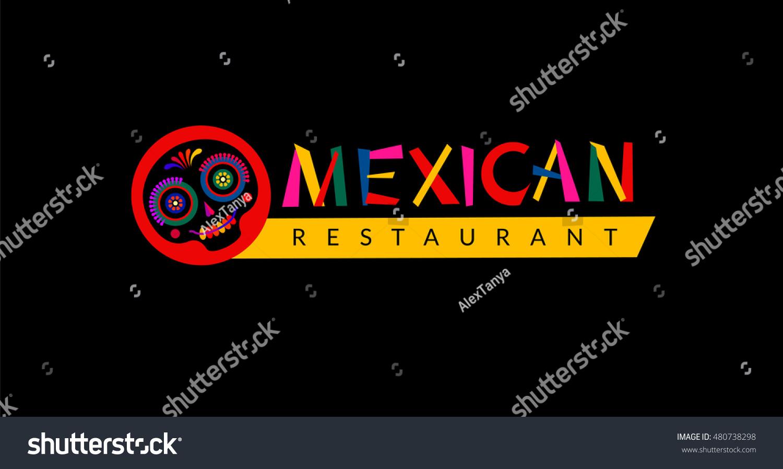 Mexican Restaurant Logo Design Sign Menu Stock Vector Royalty Free