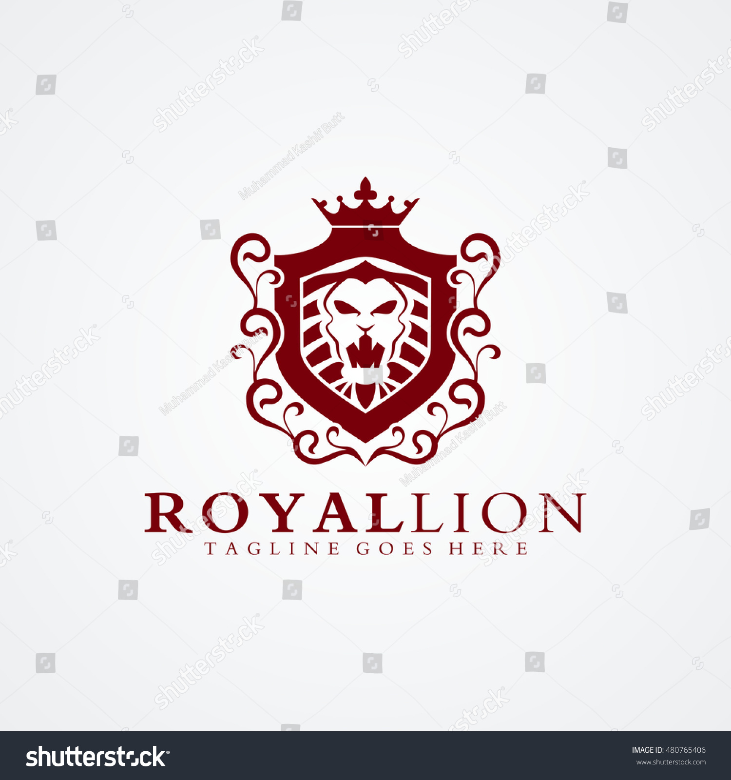 royal lion logo 02 available vectorillustration stock