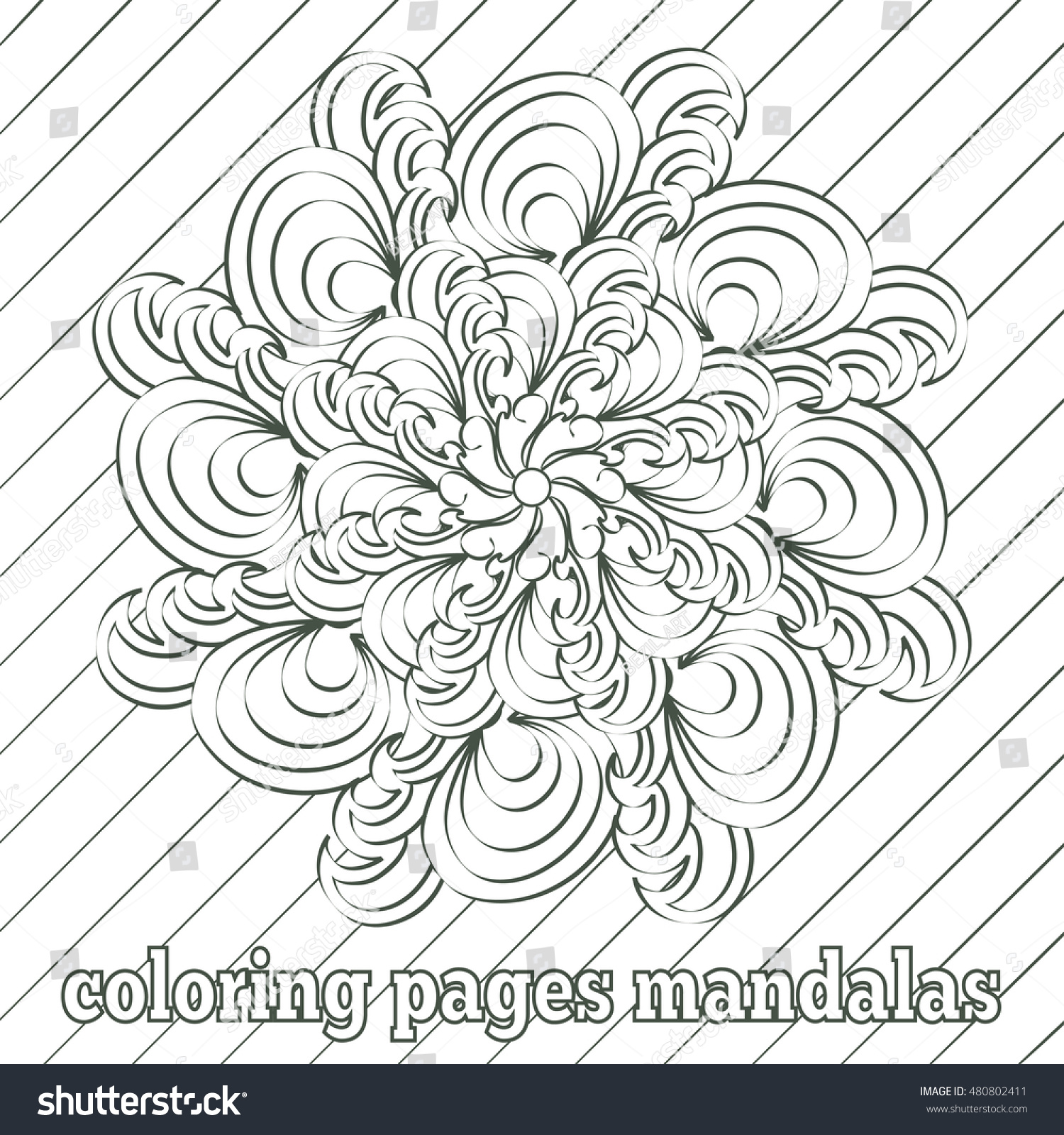 Mandala antistress coloring pages adults children stock Coloring books for adults india