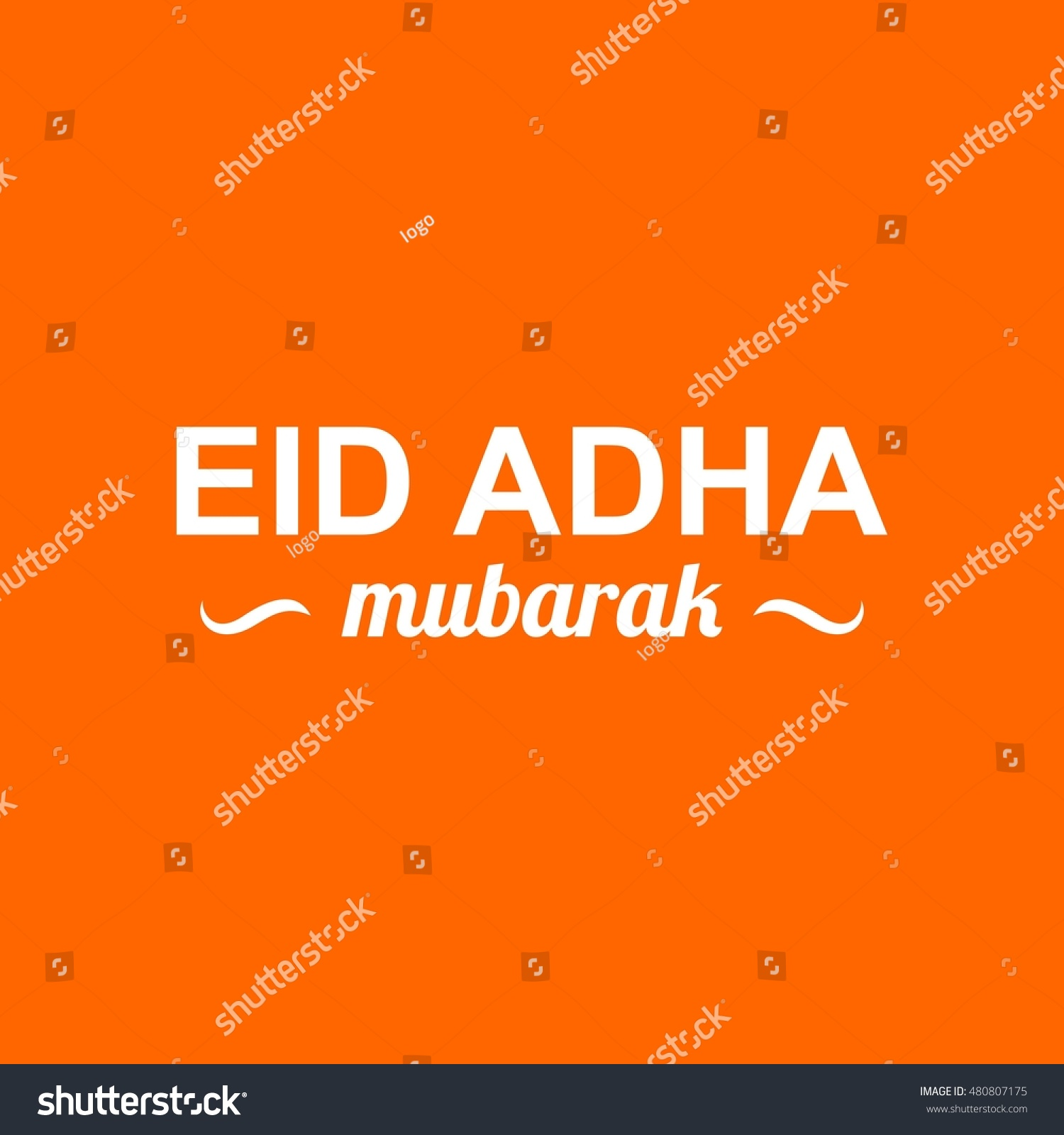 eid adha mubarak logo vector