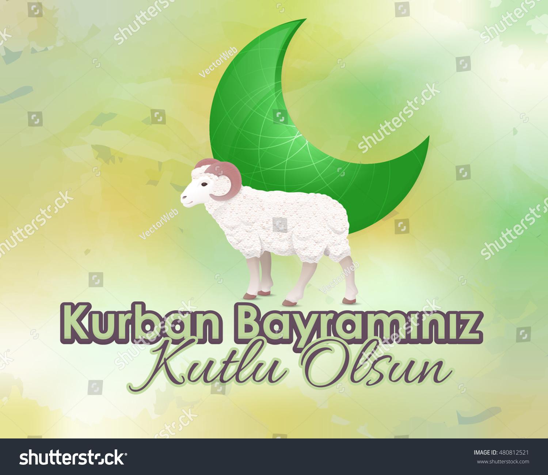 Qurban day greeting message card flyer stock vector 480812521 qurban day greeting message card flyer banner template turkish text kurban bayraminiz kristyandbryce Images