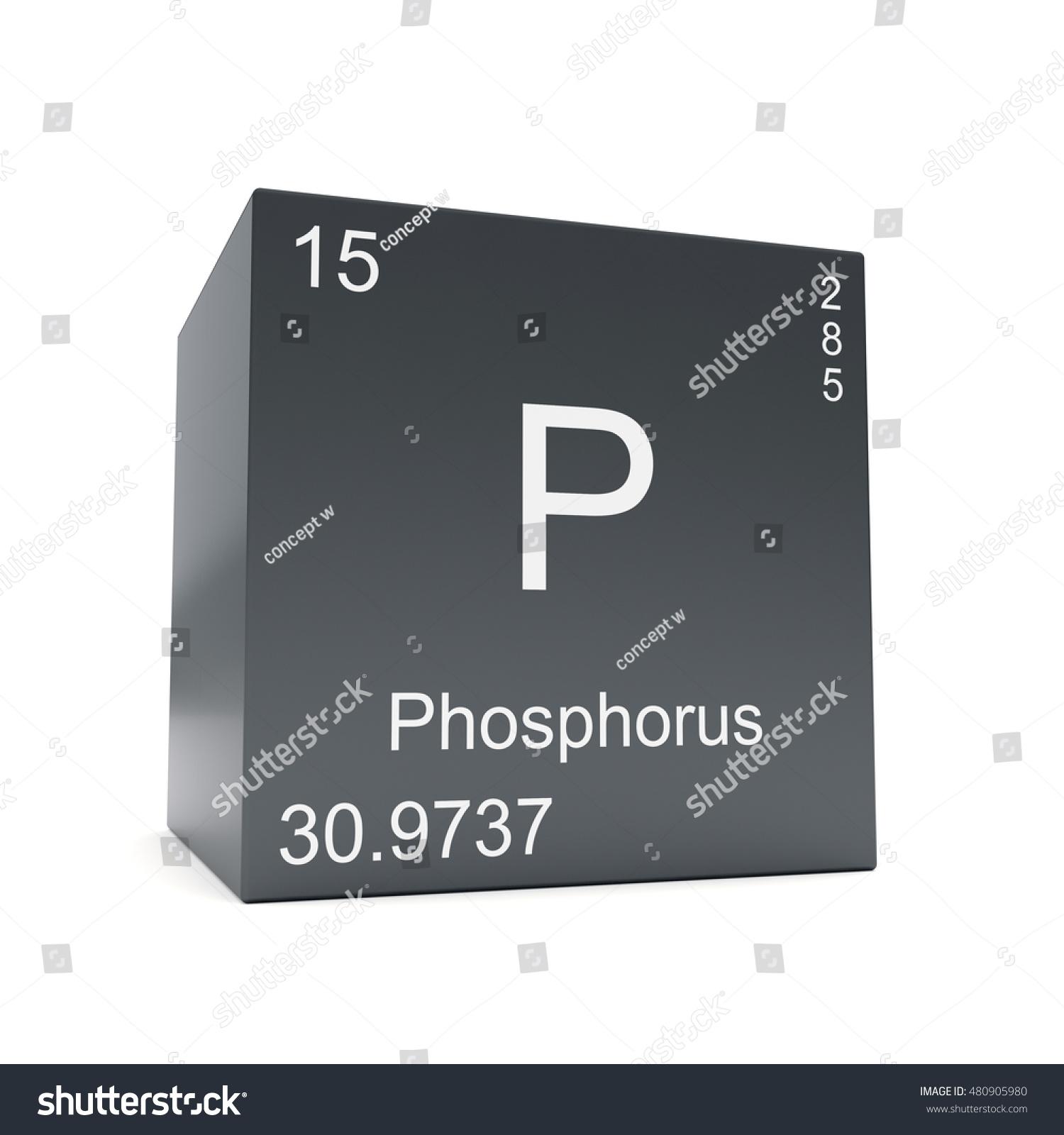 Phosphorus Chemical Element Symbol Periodic Table Stock Illustration
