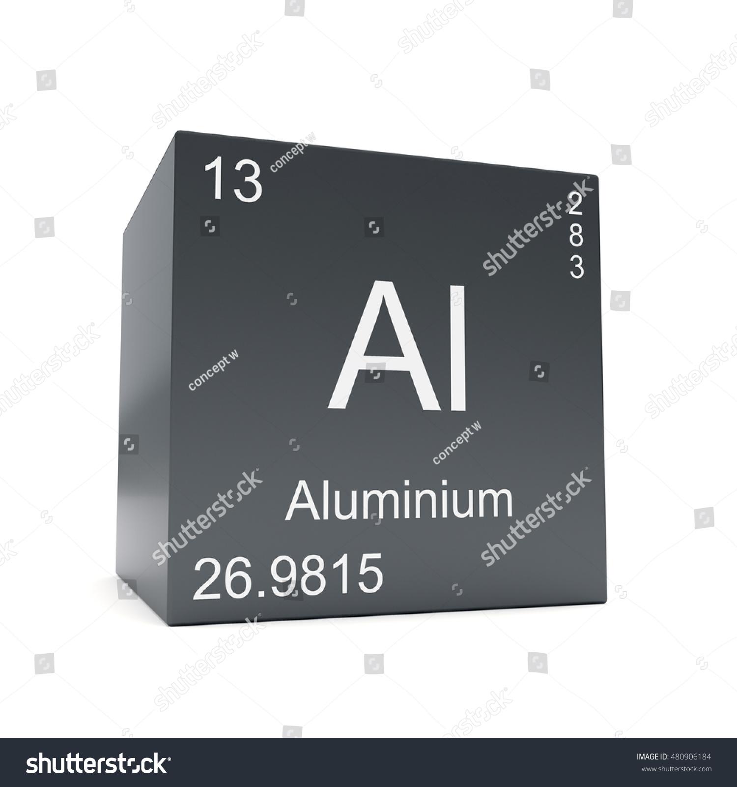 Aluminium Chemical Element Symbol Periodic Table Stock Illustration