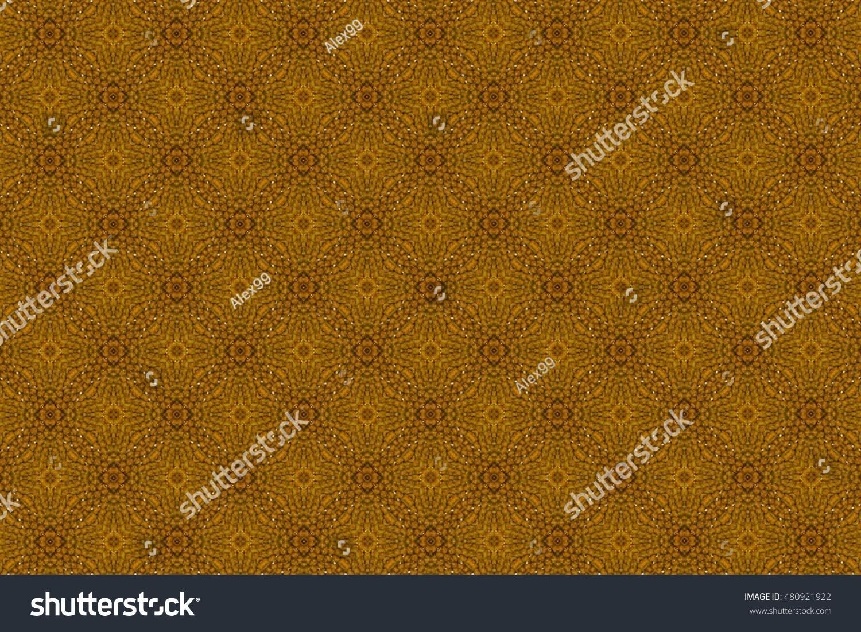 Ornament Light Brown Color Green Tinge Stock Illustration