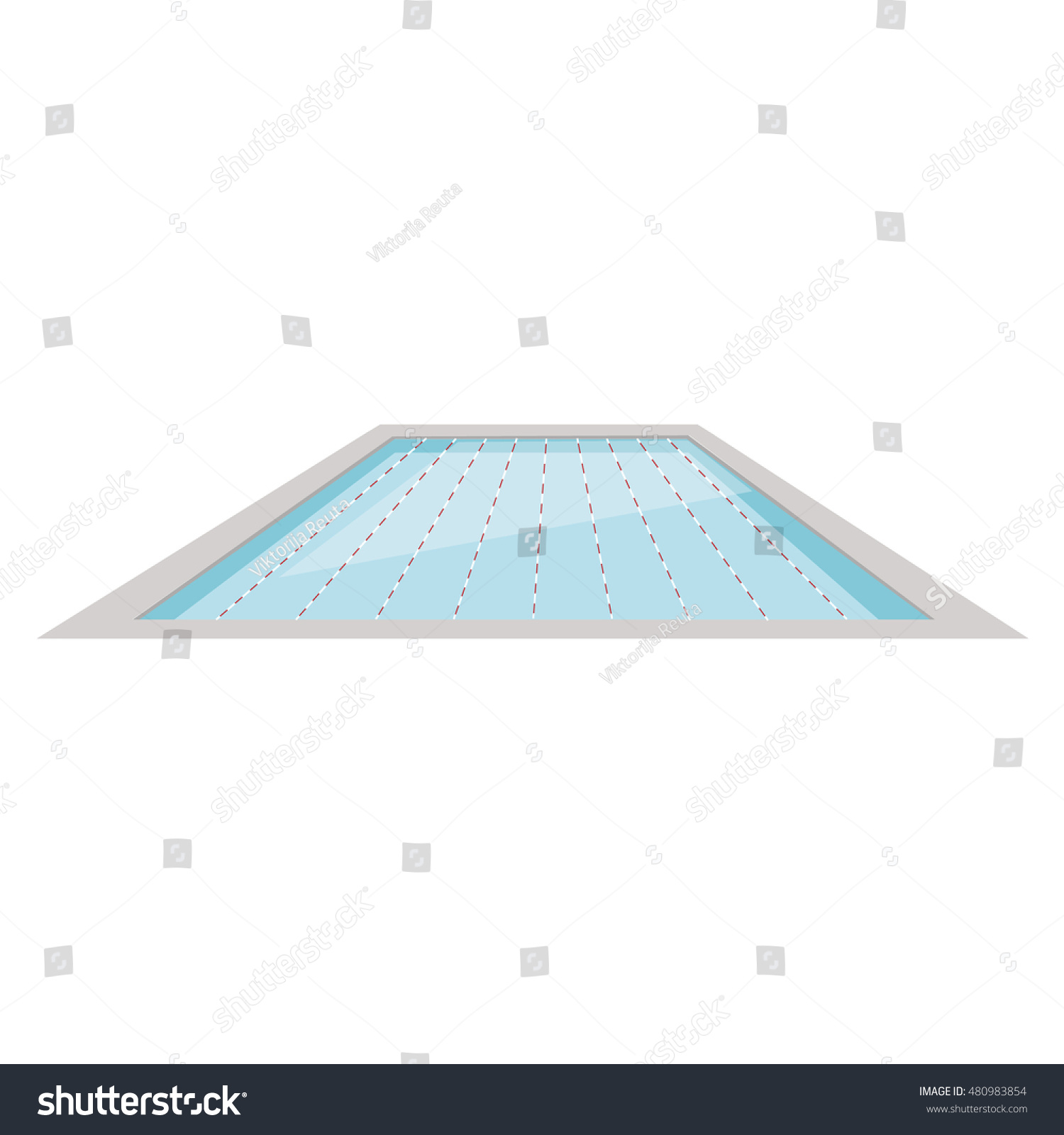 vector illustration olympic swimming pool sport and recreation healthy life style fitness