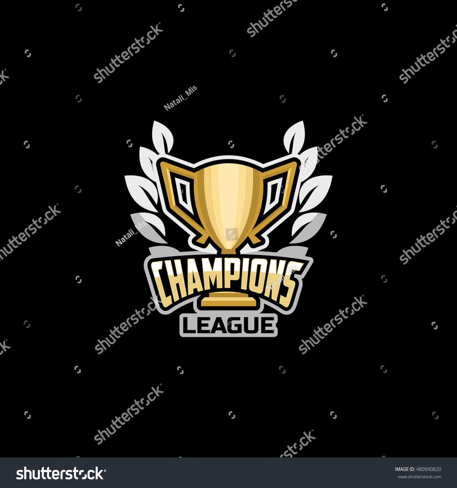 Champions League Vector: Champions League Emblem Logo Icon Badge Stock Vector