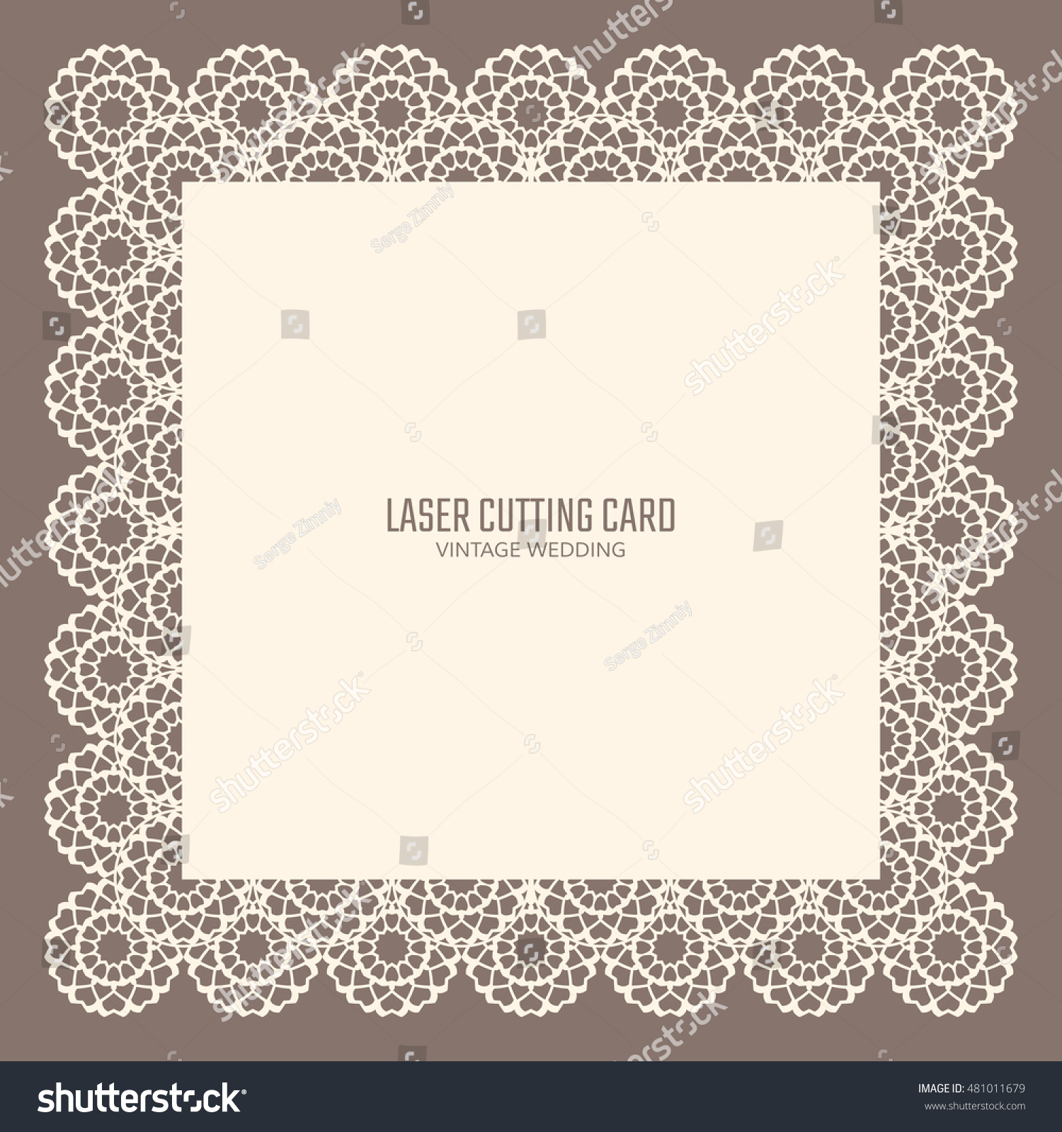 DIY Laser Cutting Vector Card Wedding Stock Vector (Royalty Free ...