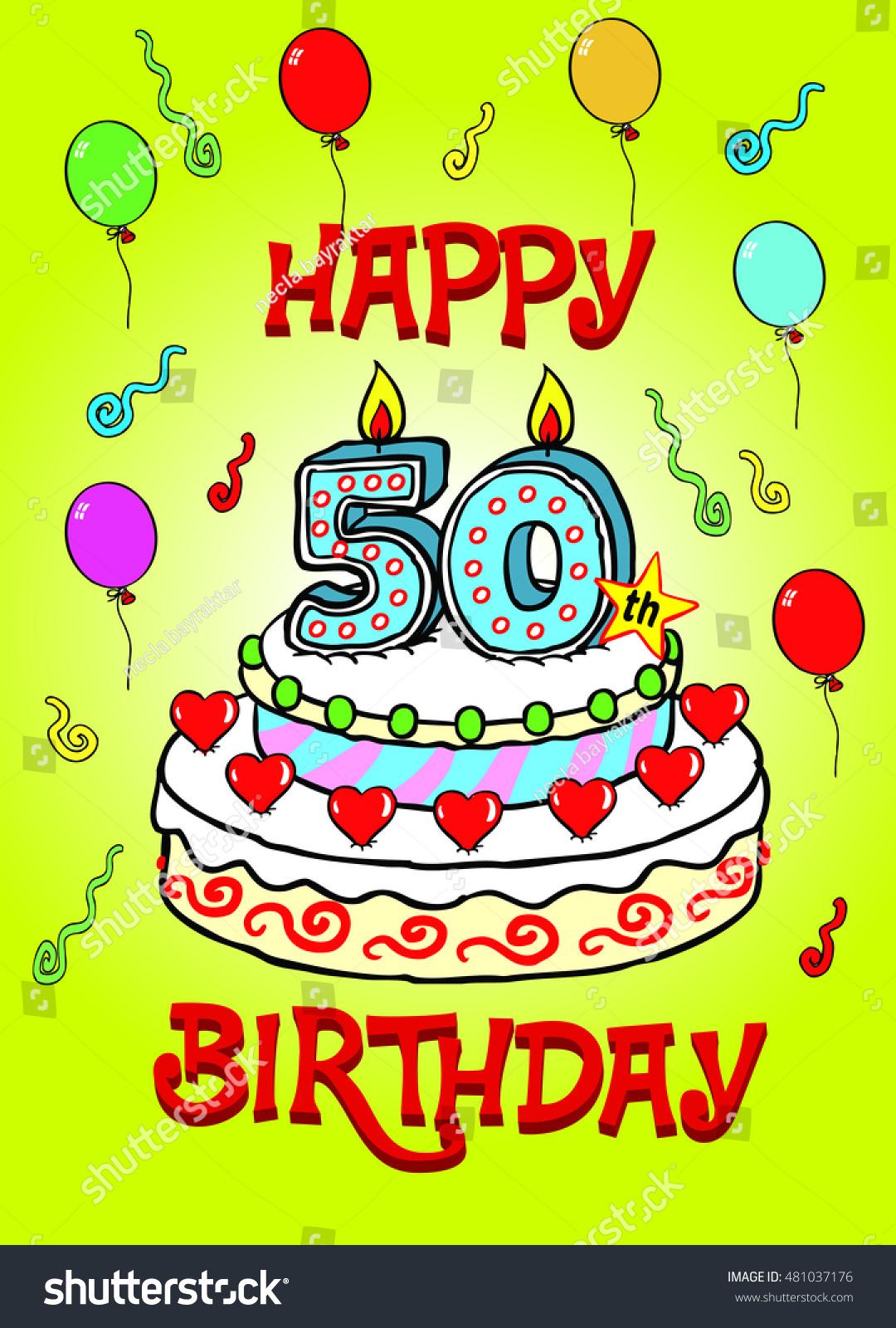 happy 50 th birthday stock vector royalty free 481037176