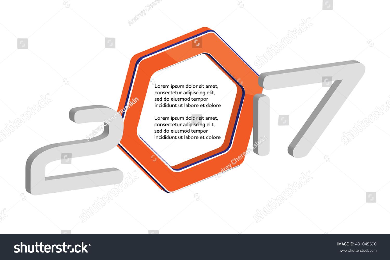 Modern 2017 New Year Letter Vector Stock Vector