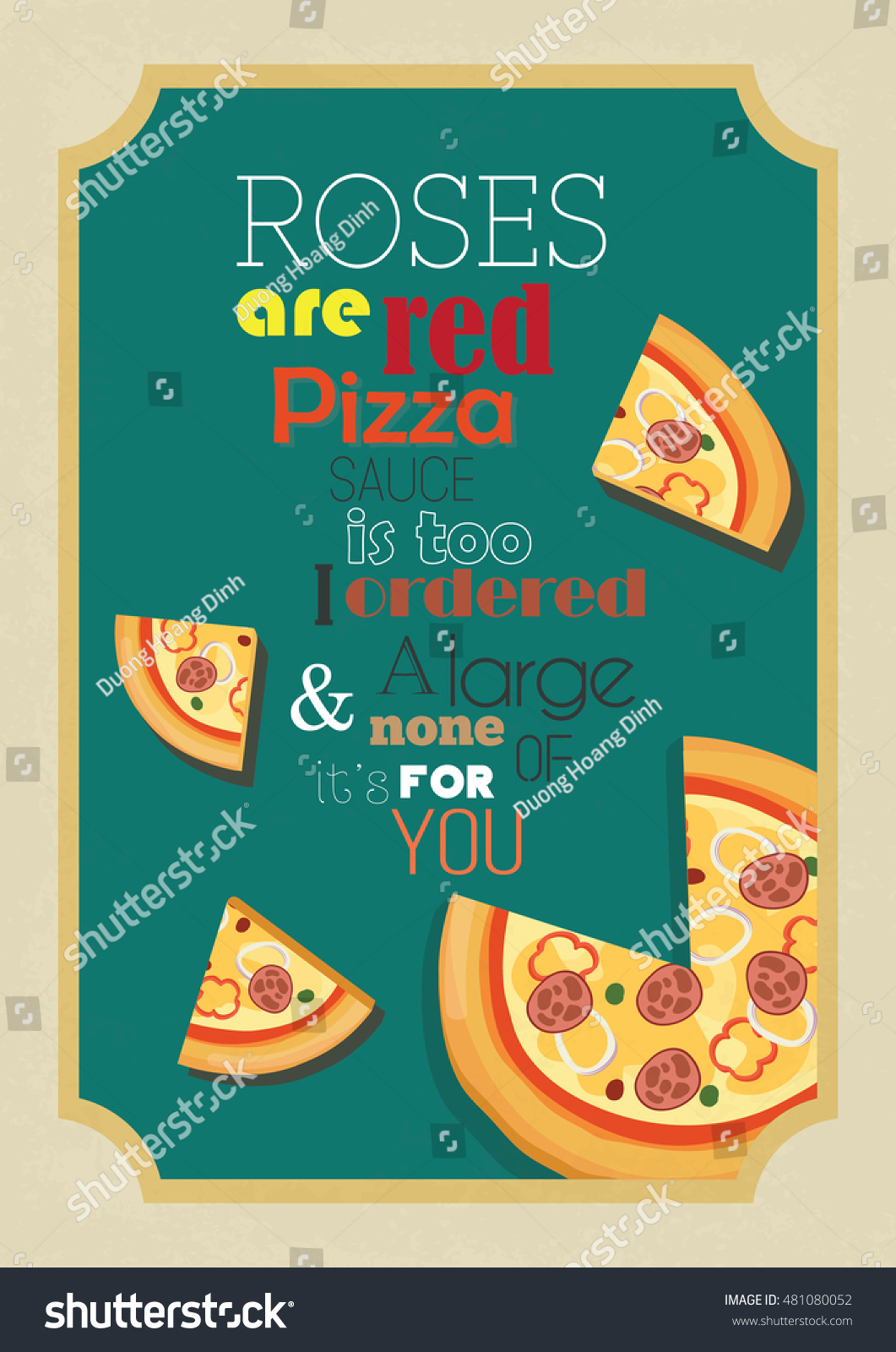 Quotes About Roses | Pizza Quote Food Quote Pizza Quote Stock Vector Royalty Free
