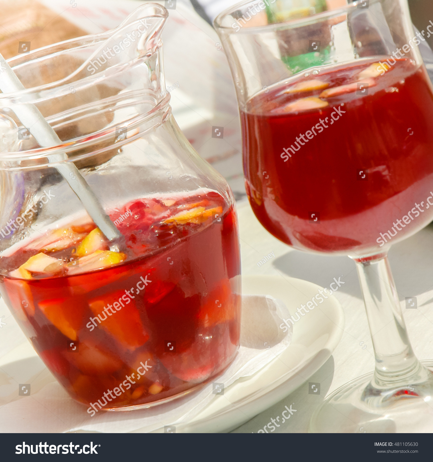 Summery Alcoholic Drink Under Spanish Sun Stock Photo Edit Now 481105630